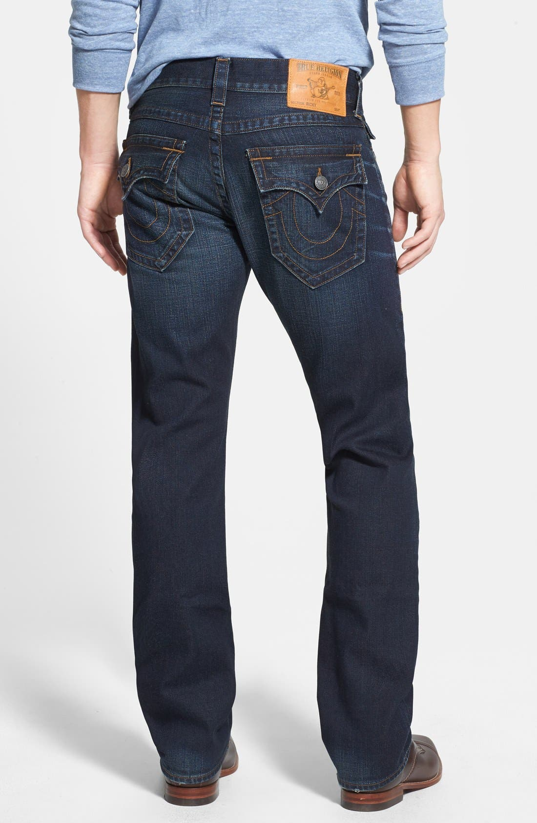 Alternate Image 1 Selected - True Religion Brand Jeans 'Ricky' Relaxed Fit Jeans (Base Notes Blue)