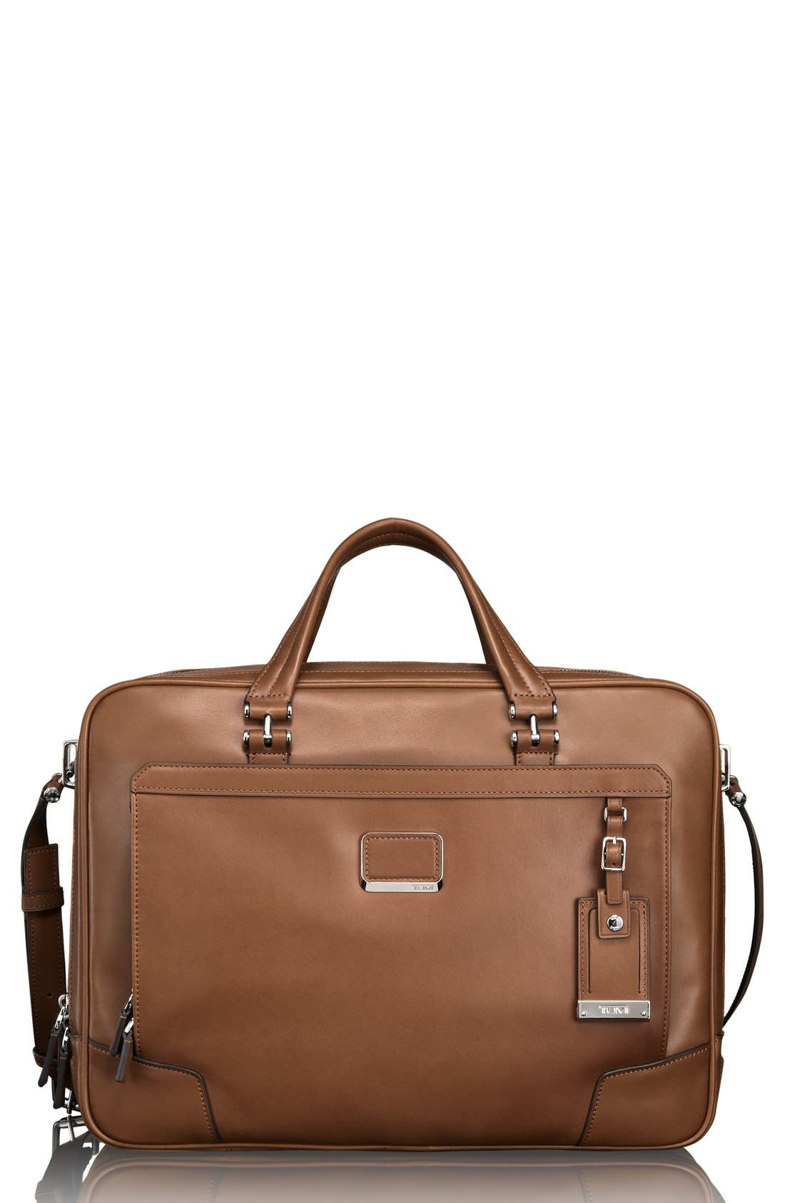 Main Image - Tumi 'Astor Ansonia' Zip Top Vachetta Leather Laptop Briefcase (17 Inch)