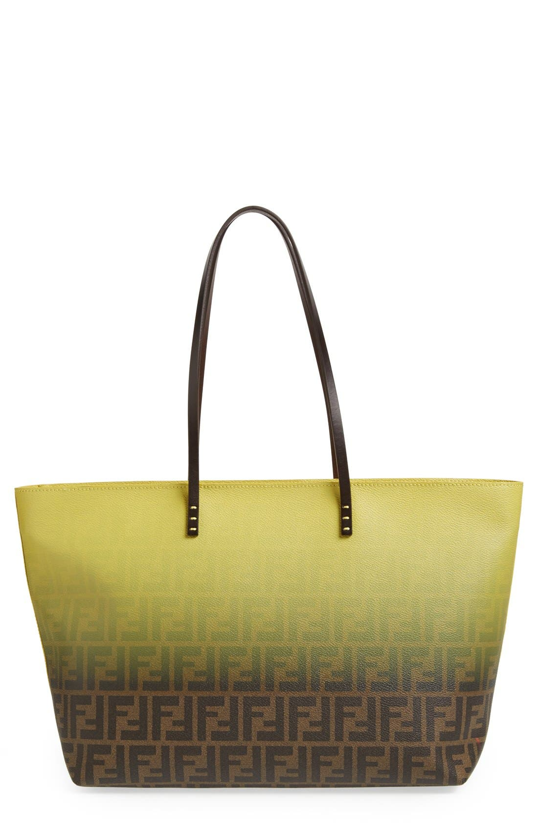 Alternate Image 1 Selected - Fendi 'Ombré Zucca' Coated Fabric Tote