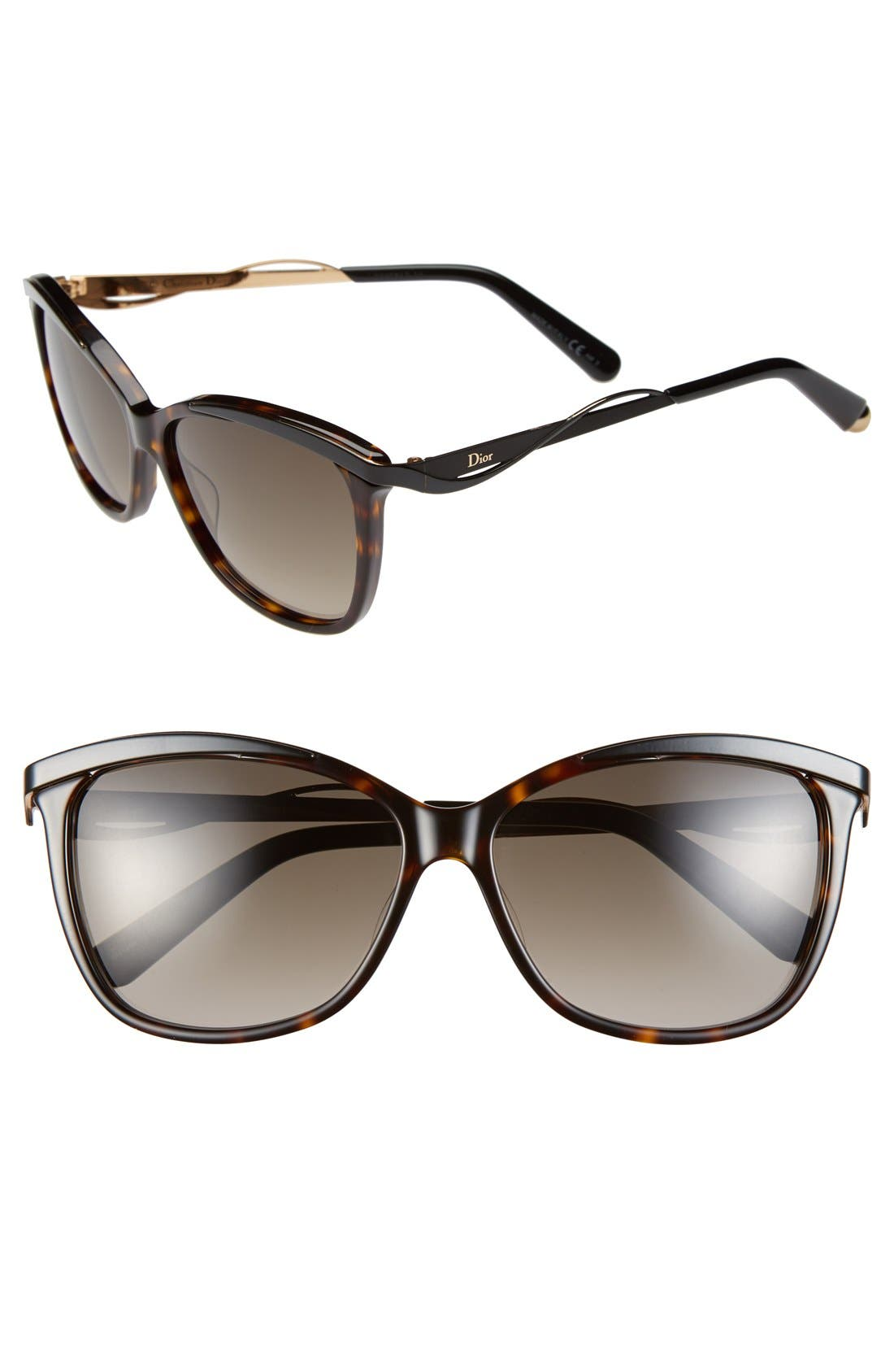 Main Image - Dior Metal Eyes 2 57mm Sunglasses
