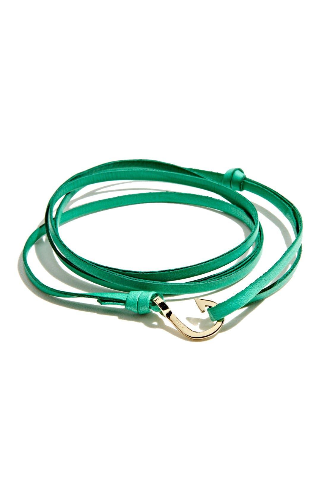 Alternate Image 1 Selected - Miansai Gold Mini Hook Leather Bracelet