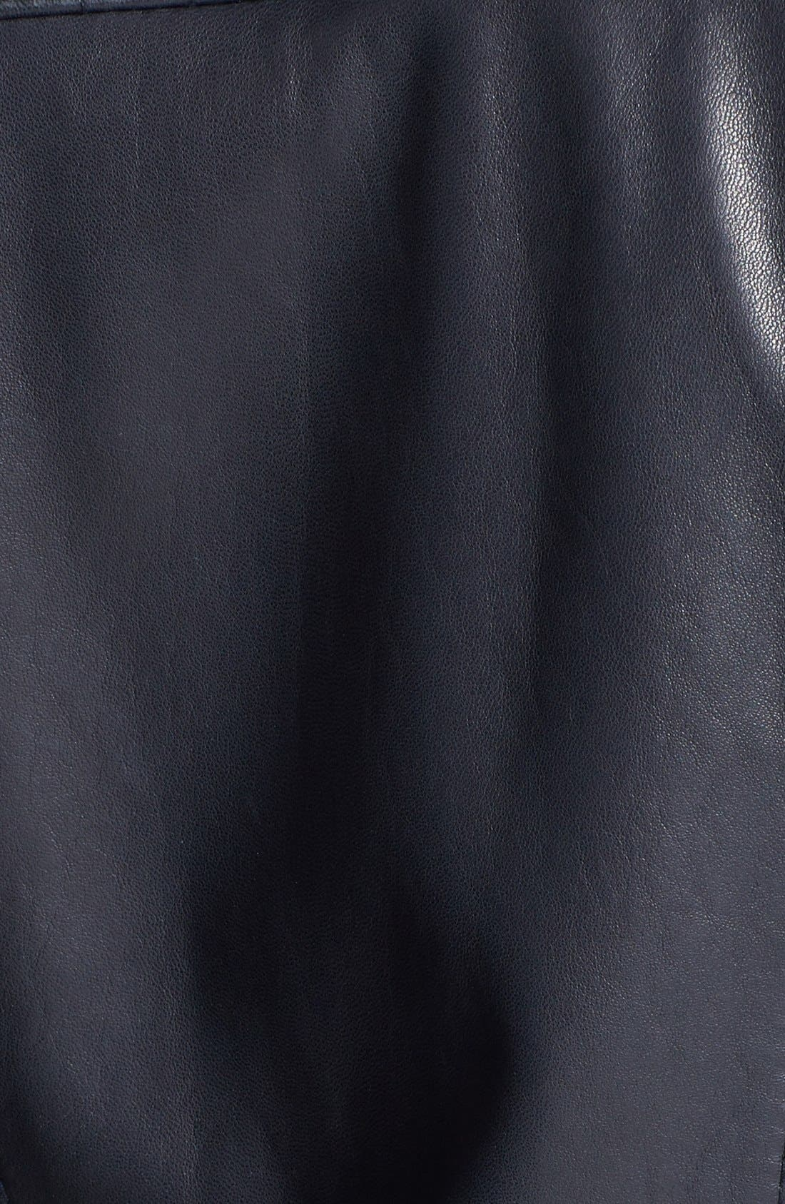 Alternate Image 3  - Marc New York Channel Quilt Leather Moto Jacket