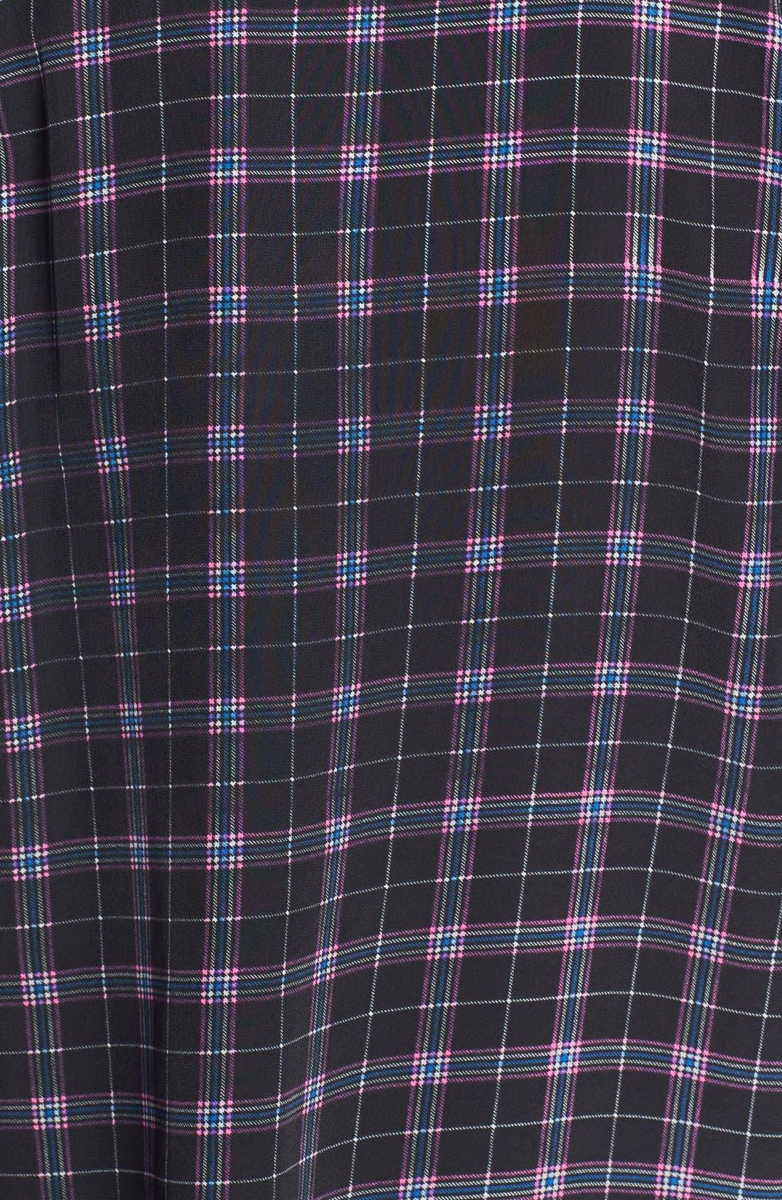 'Reese' Print Silk Shirt,                             Alternate thumbnail 3, color,                             True Black Multi