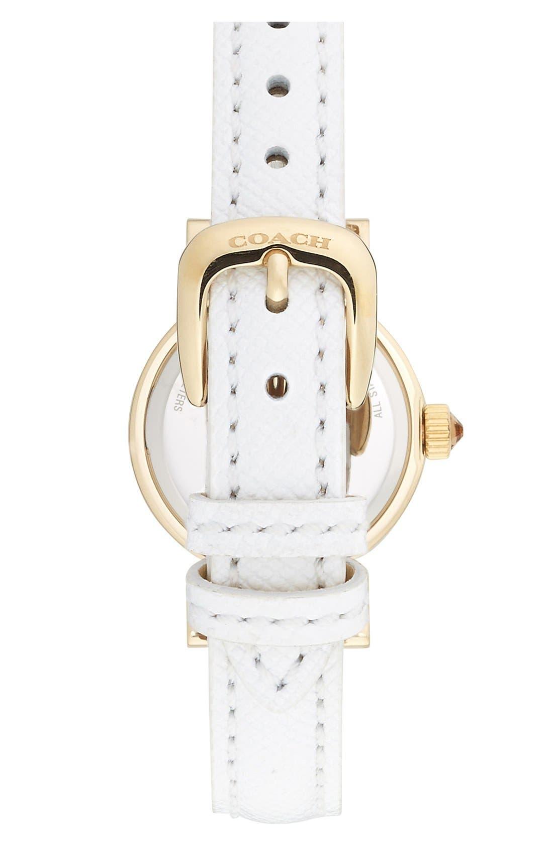 Alternate Image 2  - COACH 'Madison' Leather Strap Watch, 23mm