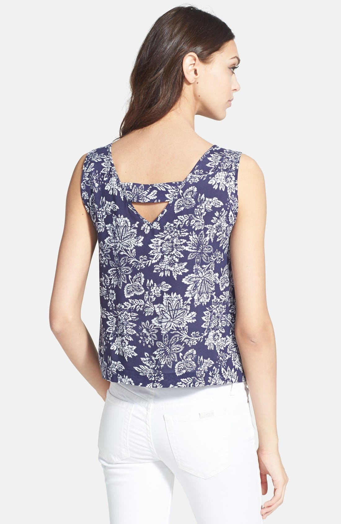 Alternate Image 2  - Ace Delivery Floral Print Tank