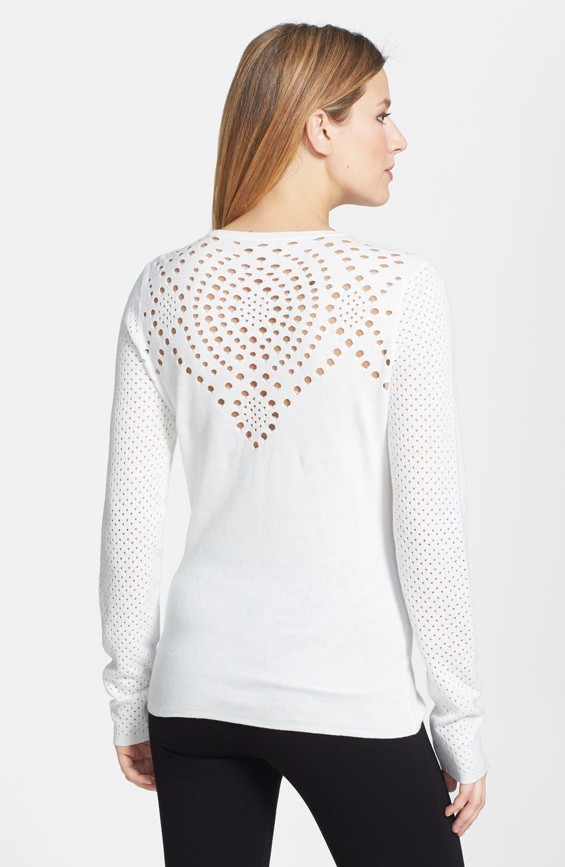 Alternate Image 2  - Rachel Roy Cotton Knit Top