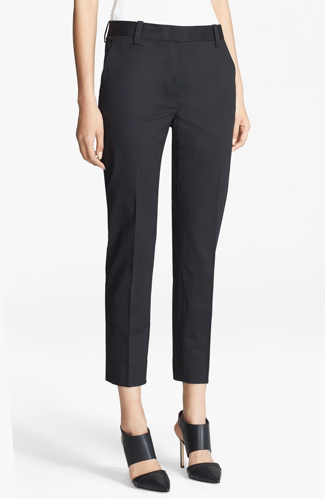 Alternate Image 1 Selected - 3.1 Phillip Lim Crop Stretch Cotton Pencil Trousers