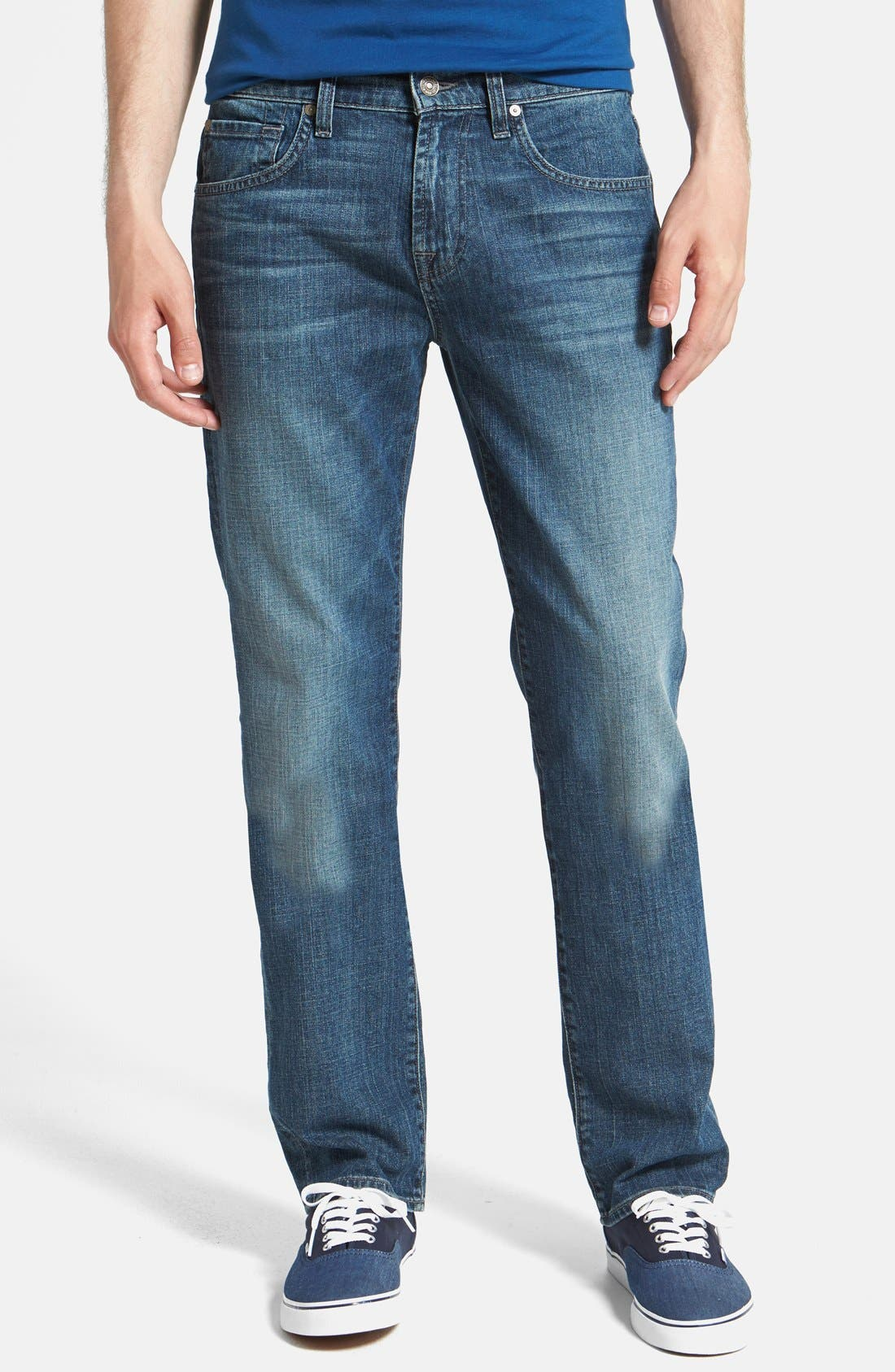 Main Image - 7 For All Mankind® 'The Straight' Modern Straight Leg Jeans (Blueridge)