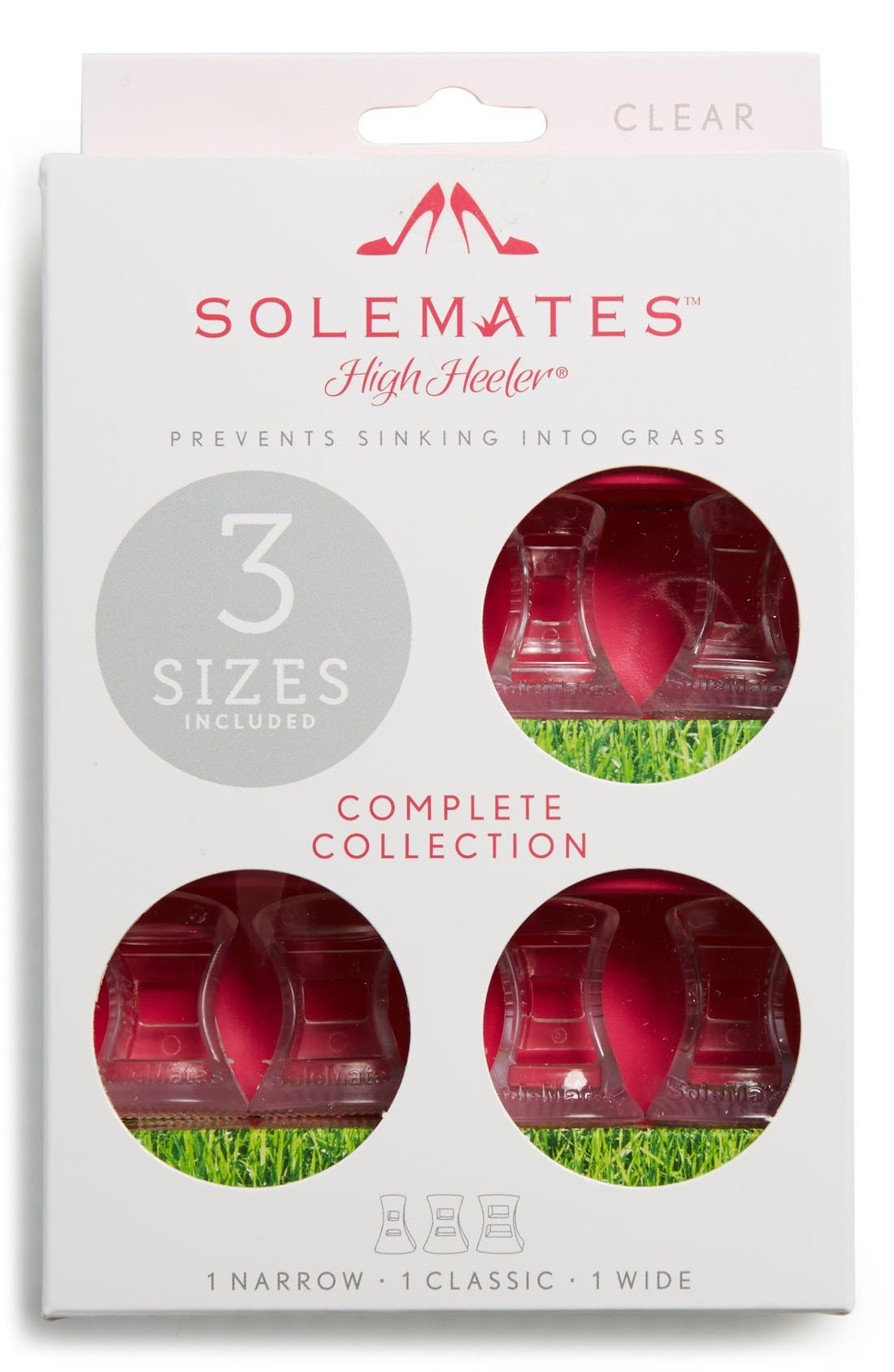 Solemates<sup>®</sup> Outdoor Solutions 'High Heeler<sup>™</sup>' Heel Protectors,                         Main,                         color, Clear