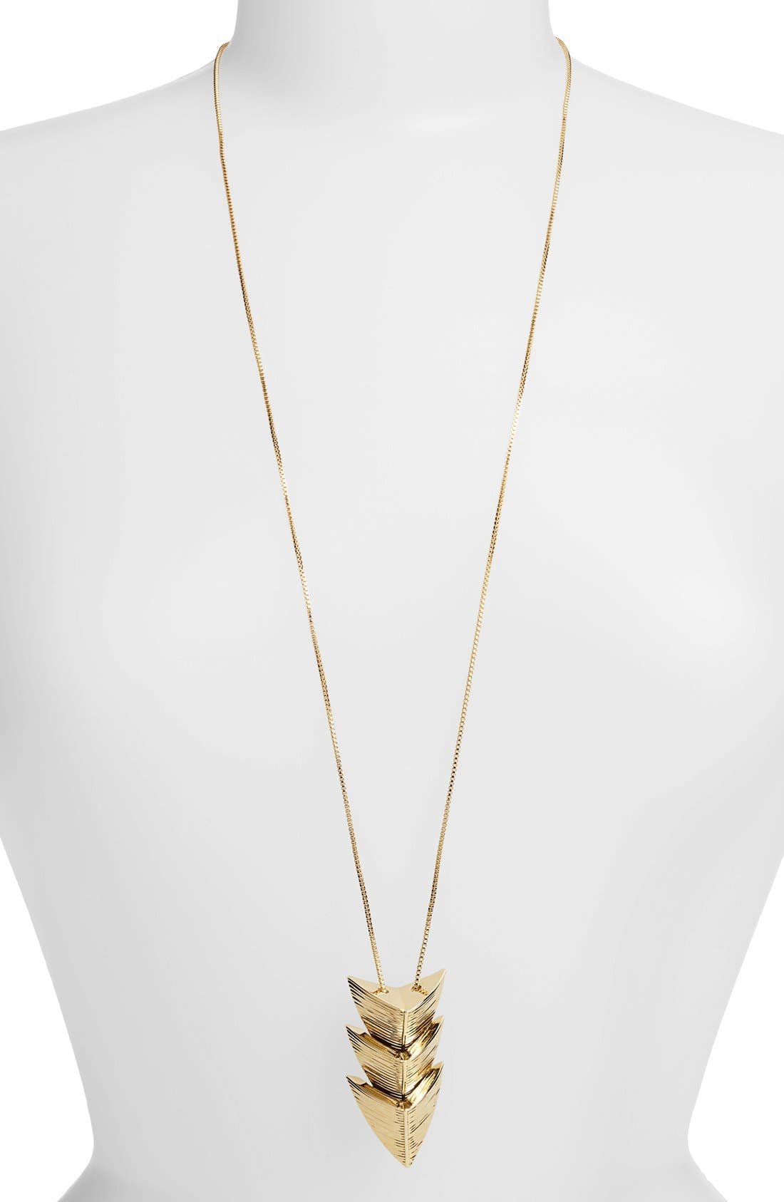 Main Image - St. John Collection Arrowhead Long Pendant Necklace