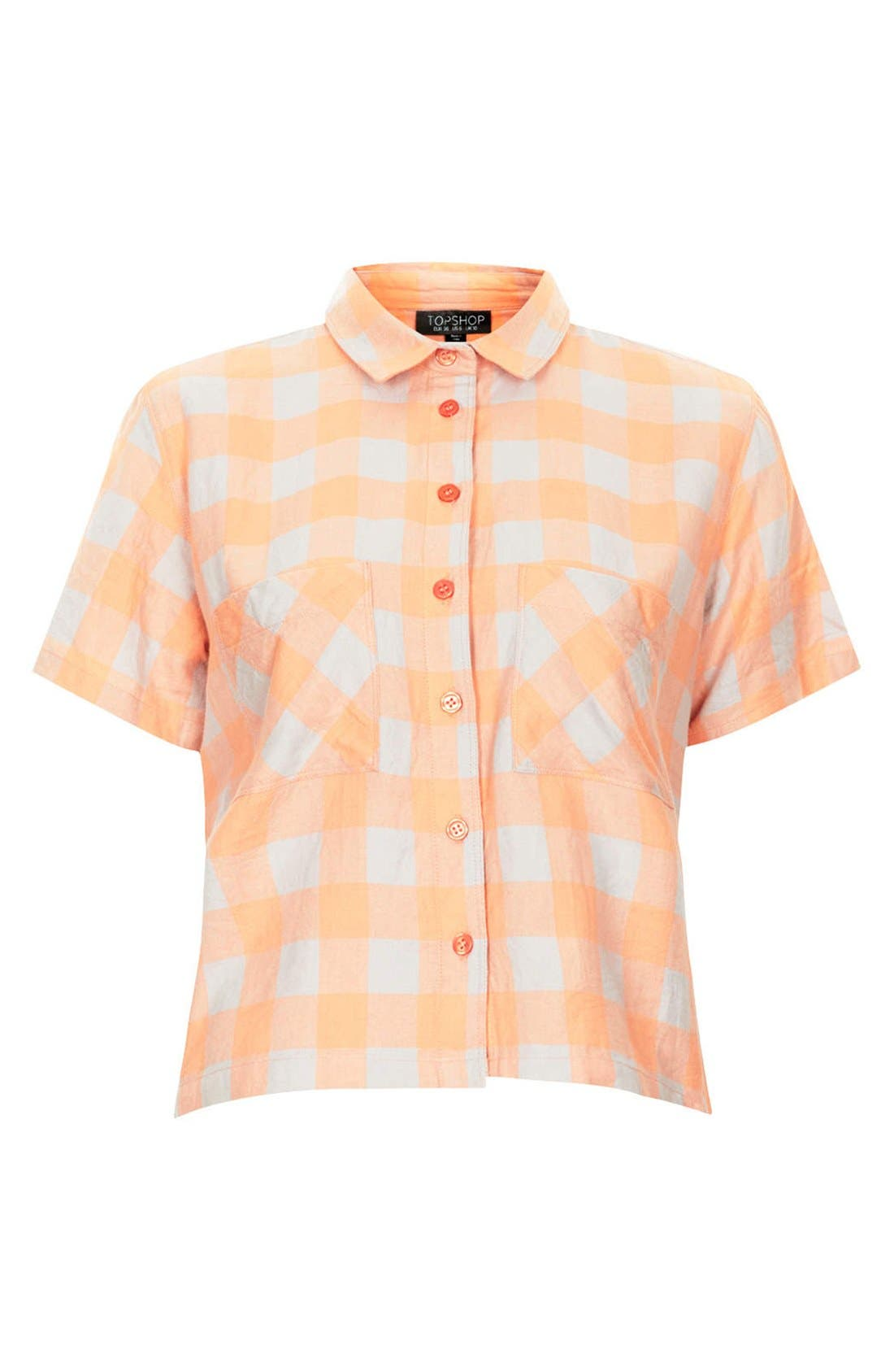 Alternate Image 3  - Topshop 'Amy' Check Short Sleeve Shirt