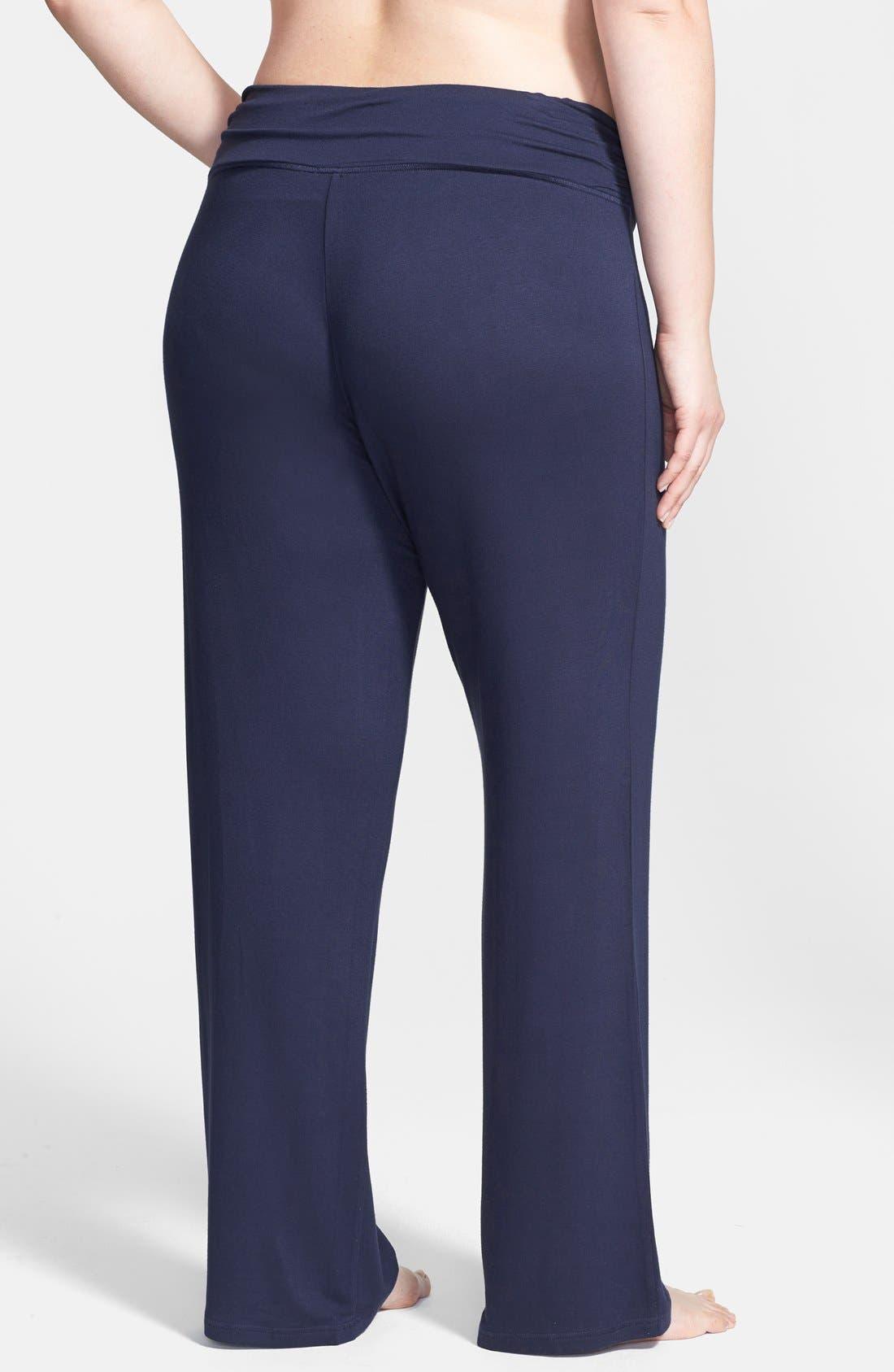 Alternate Image 2  - Shimera Ruched Waist Lounge Pants (Plus Size)