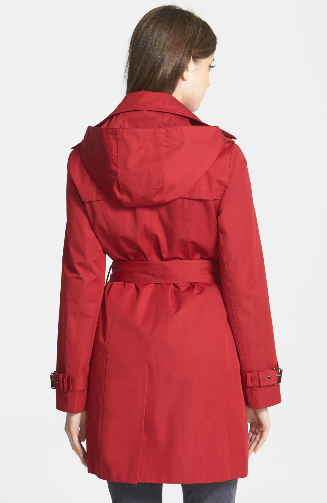 Alternate Image 2  - MICHAEL Michael Kors Trench Coat with Detachable Hood & Liner