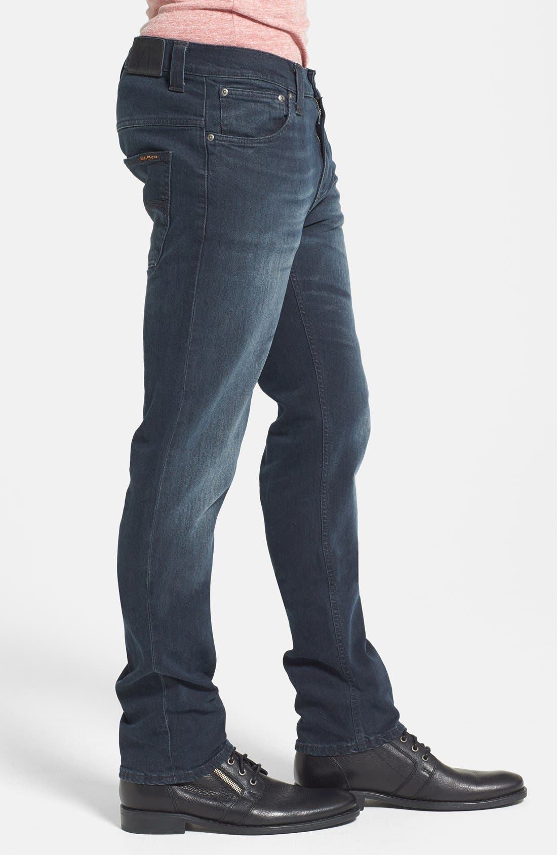 Alternate Image 3  - Nudie Jeans 'Thin Finn' Skinny Fit Jeans (Organic Black Grey)