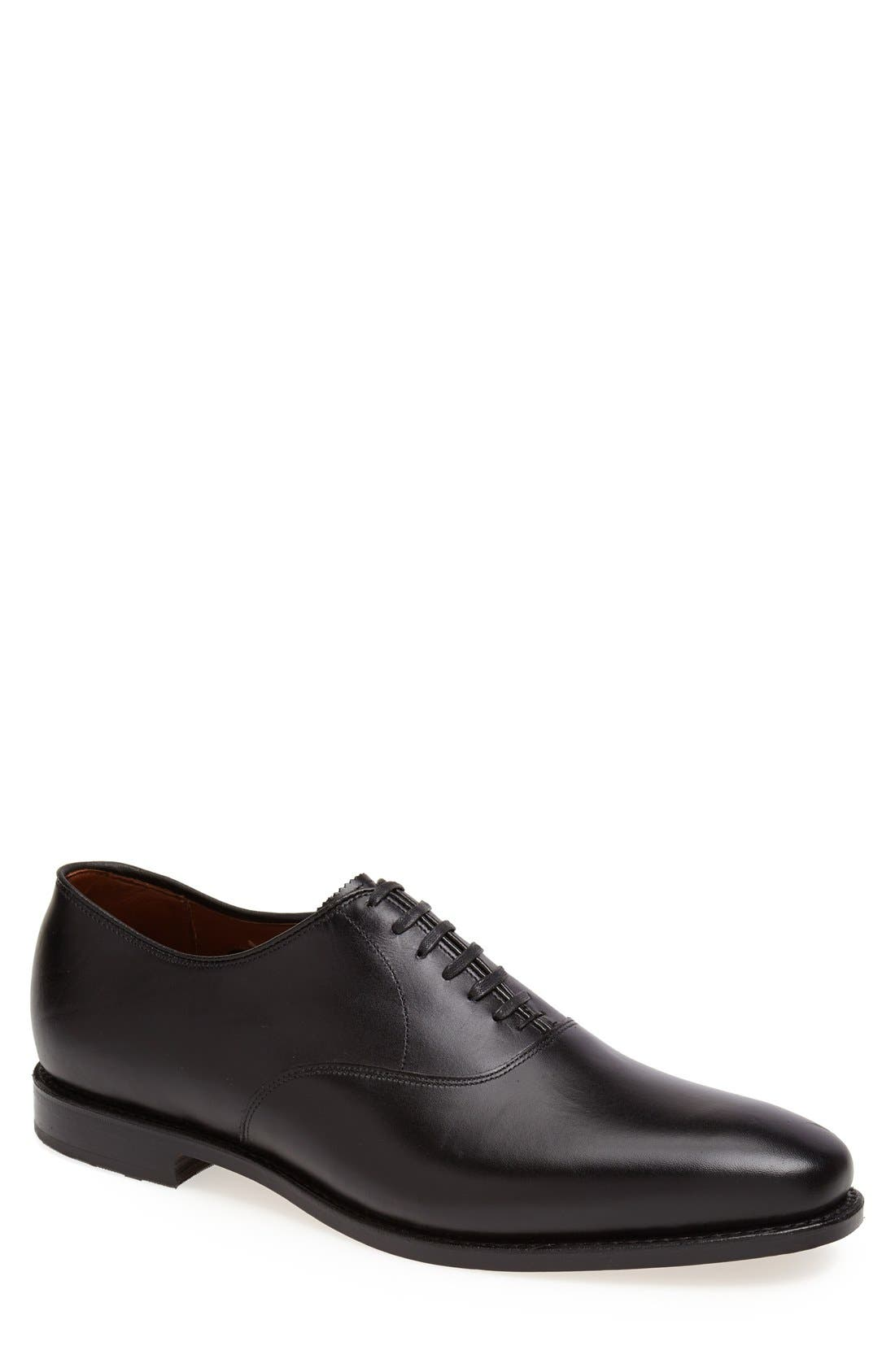 Carlyle Plain Toe Oxford,                             Main thumbnail 1, color,                             Black Leather