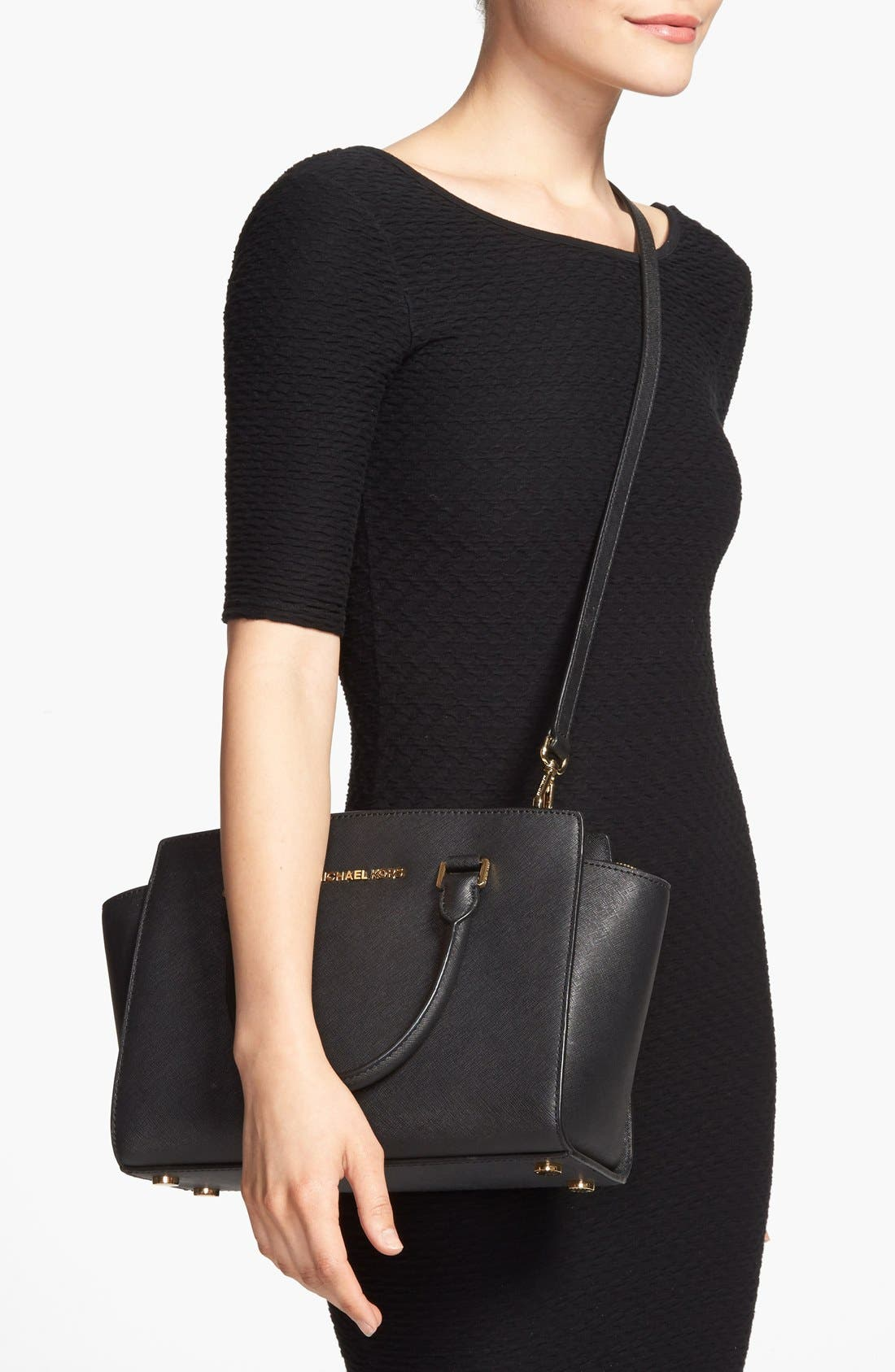Alternate Image 2  - MICHAEL Michael Kors 'Medium Selma' Leather Zip Top Satchel