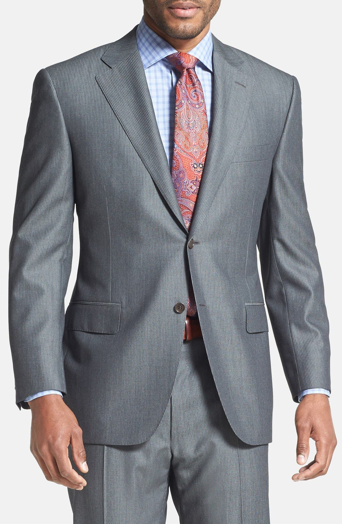 Alternate Image 3  - Canali Classic Fit Herringbone Suit