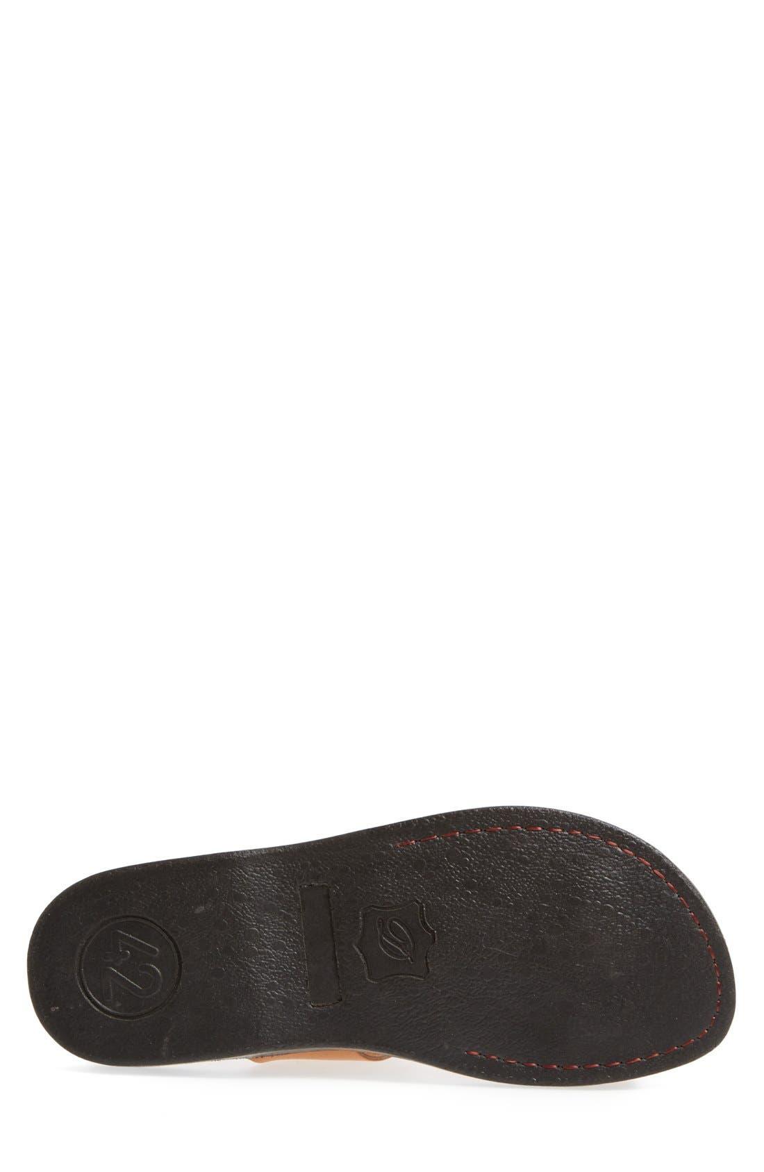 'Zohar' Leather Sandal,                             Alternate thumbnail 4, color,                             Tan