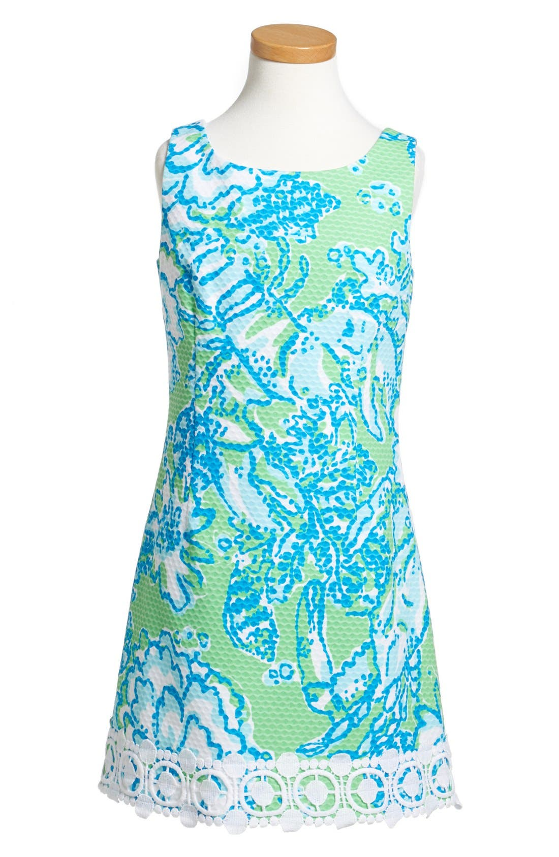 Main Image - Lilly Pulitzer® 'Little Delia' Sleeveless Piqué Dress (Little Girls & Big Girls)