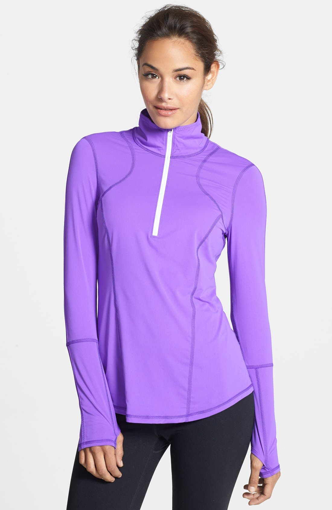 Alternate Image 1 Selected - Zella 'On the Run' Half Zip Top