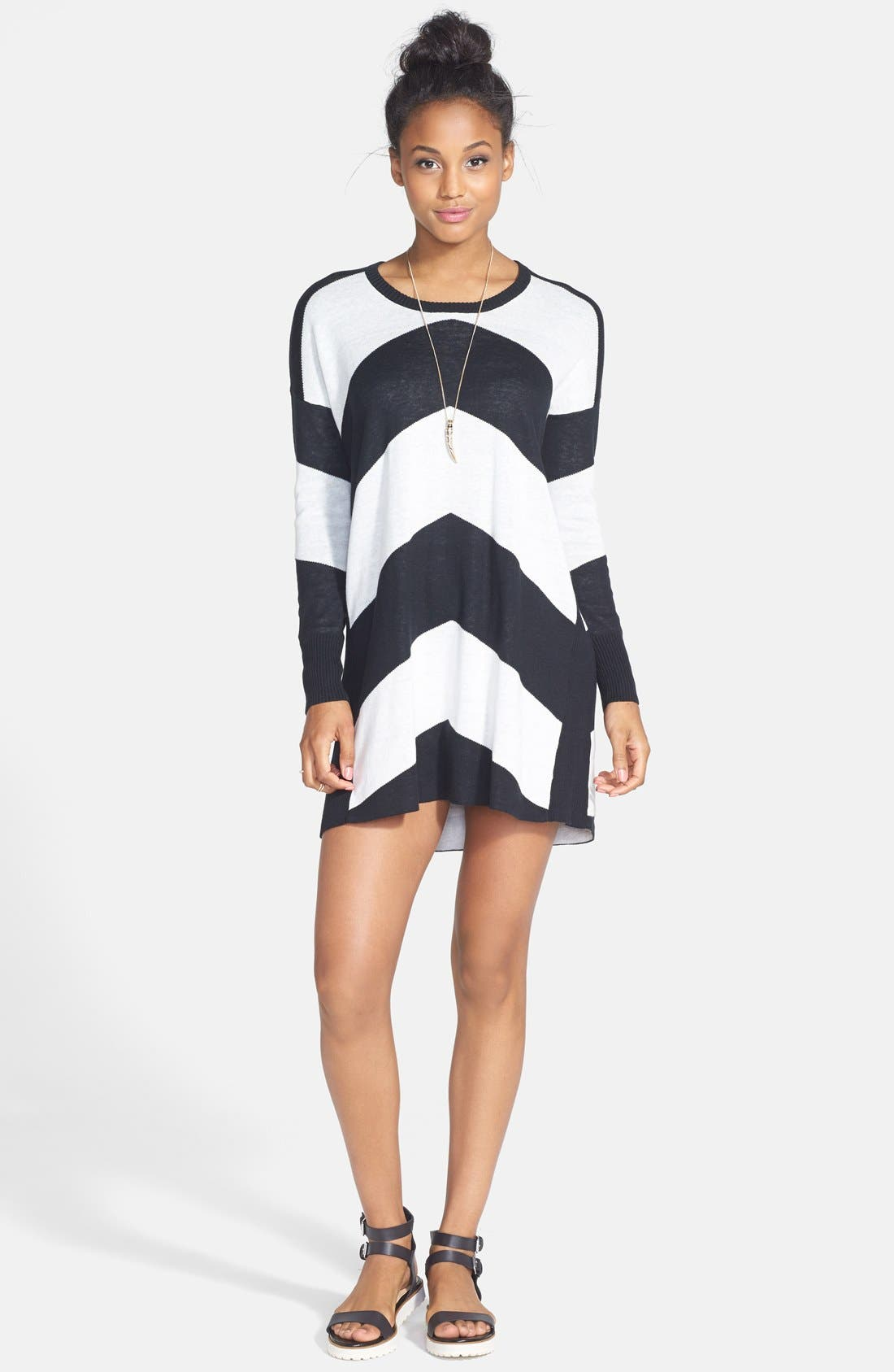 Alternate Image 3  - Volcom 'Twisted' Chevron Sweater Dress
