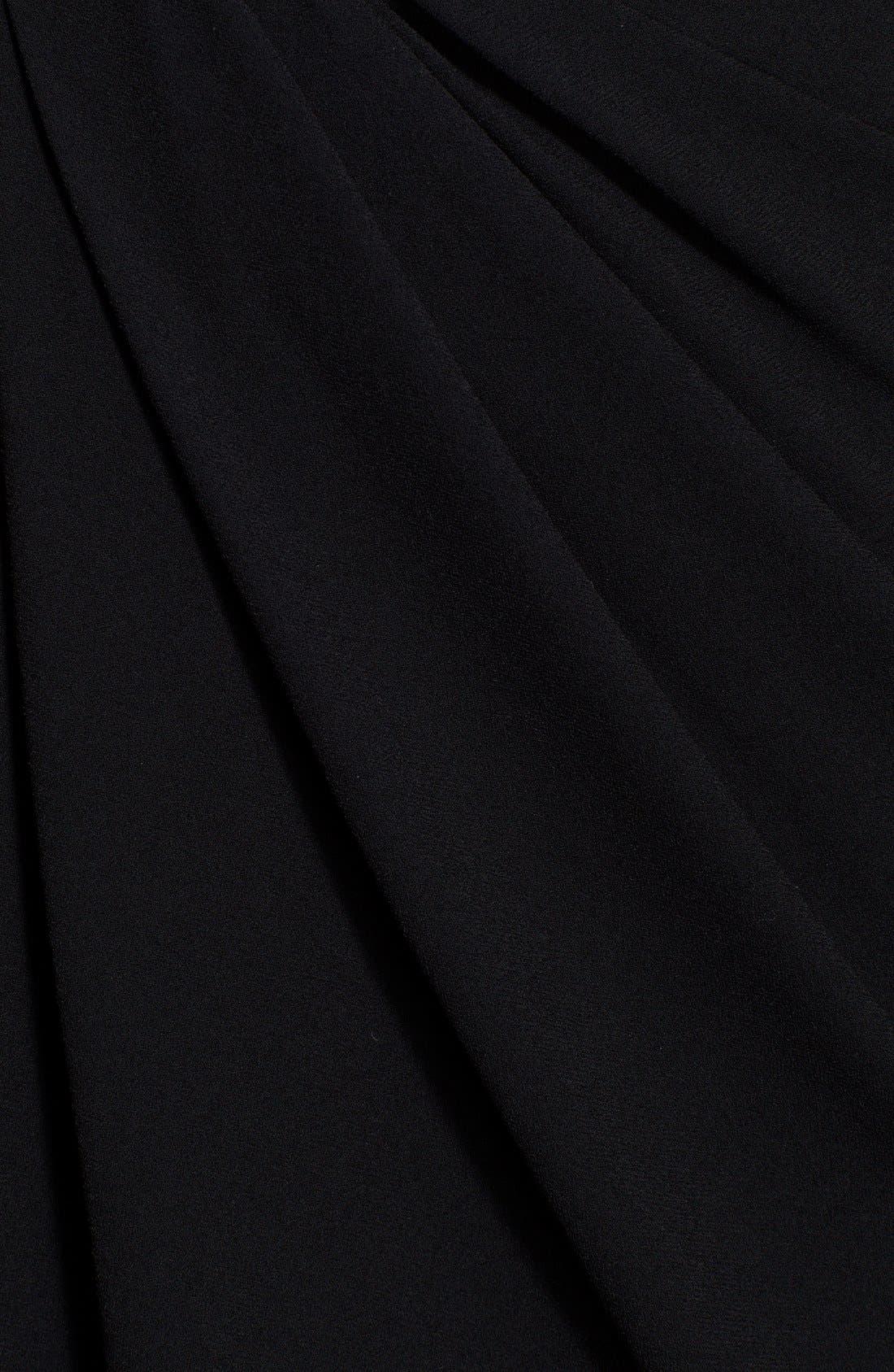 Alternate Image 3  - Halston Heritage Twist Front Leather Sleeve Dress