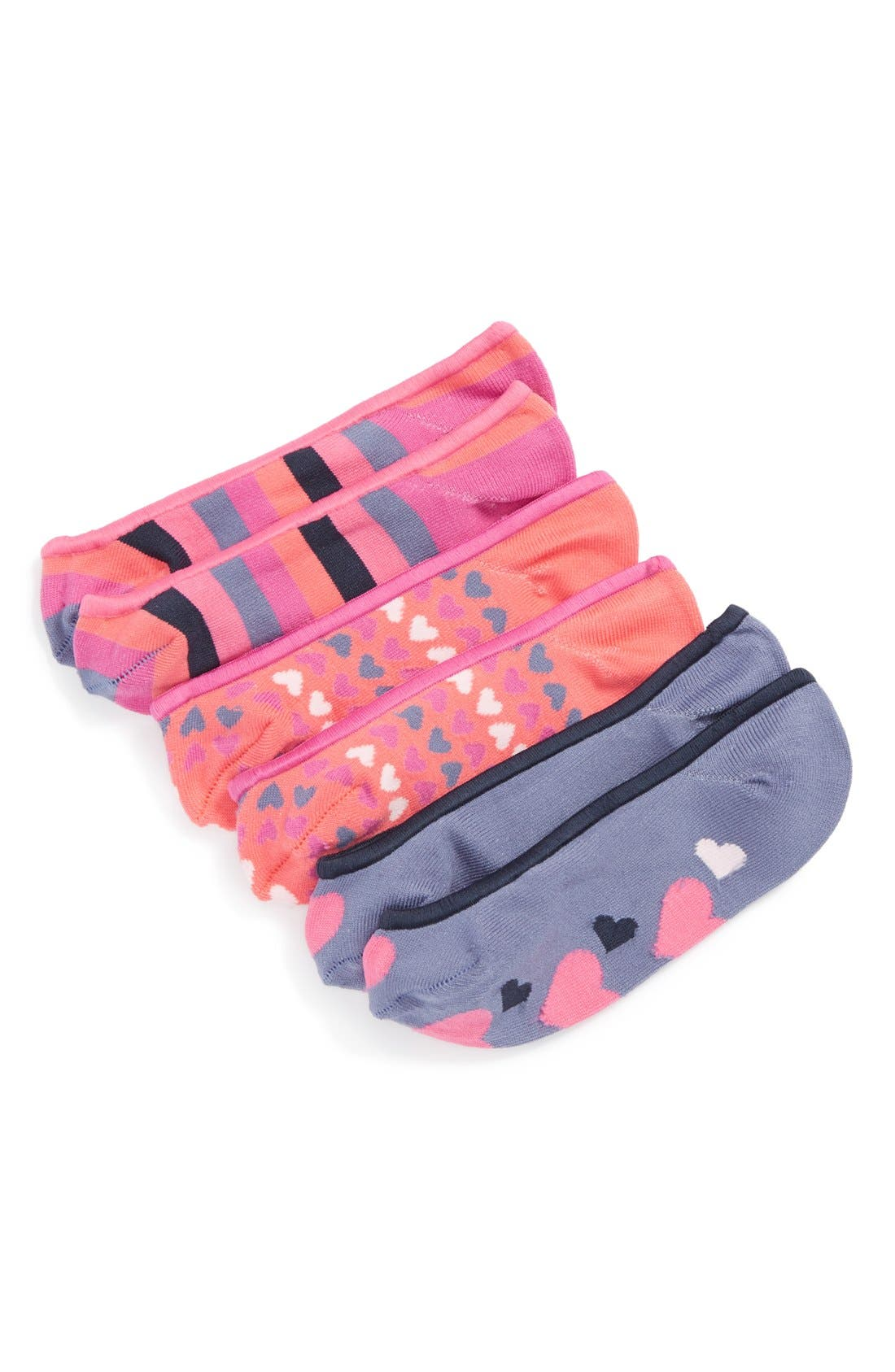 Alternate Image 1 Selected - Nordstrom Pattern Sock Liners (3-Pack) (Toddler & Big Girls)