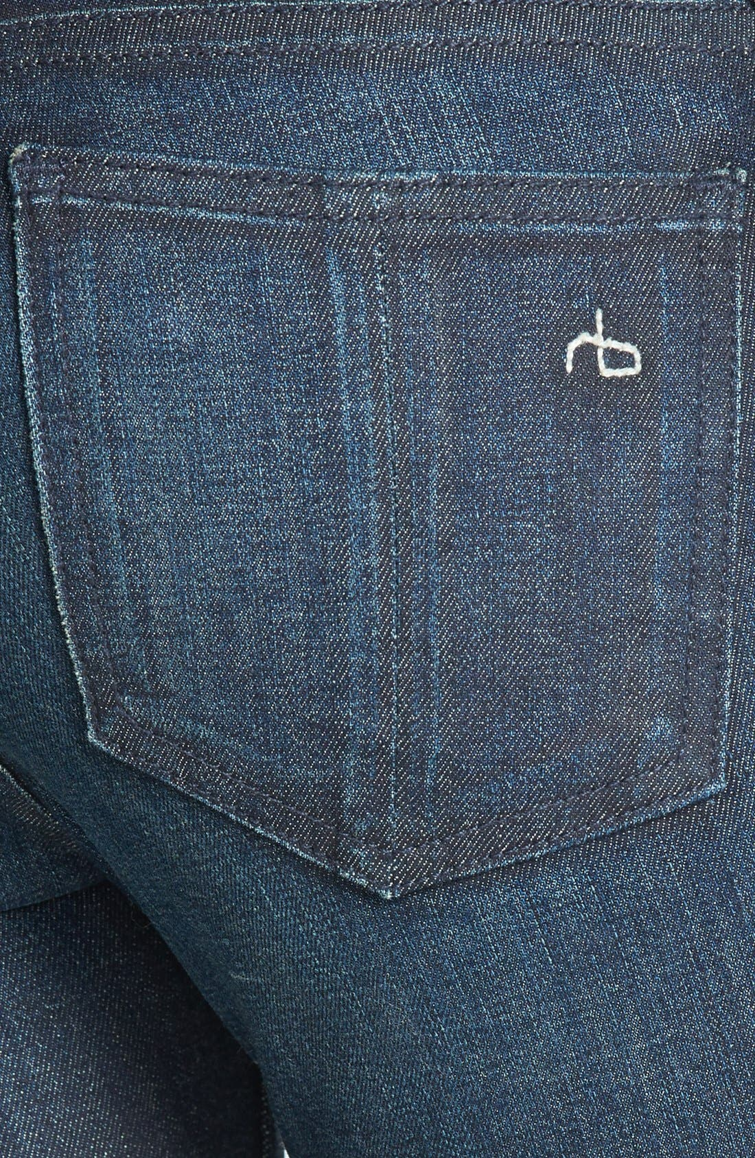 Zip Detail Skinny Jeans,                             Alternate thumbnail 3, color,                             Kensington