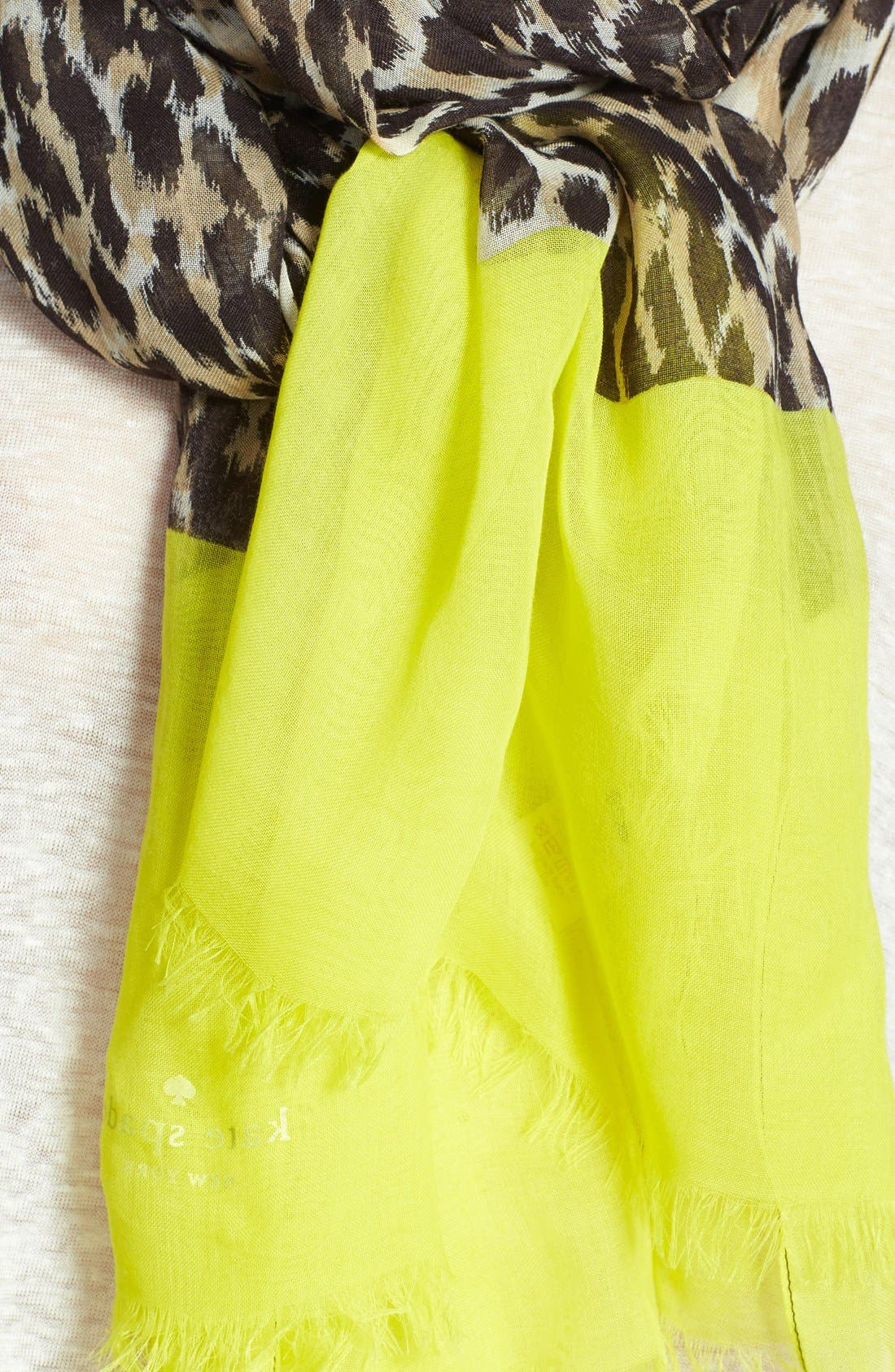 Alternate Image 3  - kate spade new york 'cuban leopard' scarf