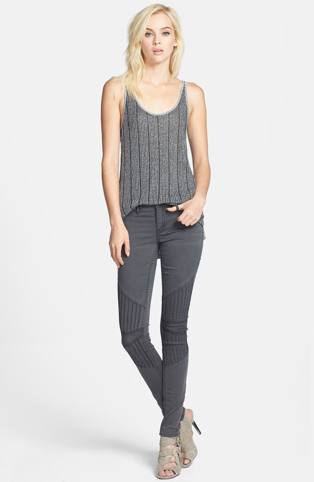 Alternate Image 4  - Leith Metallic Rib Knit Slouchy Tank