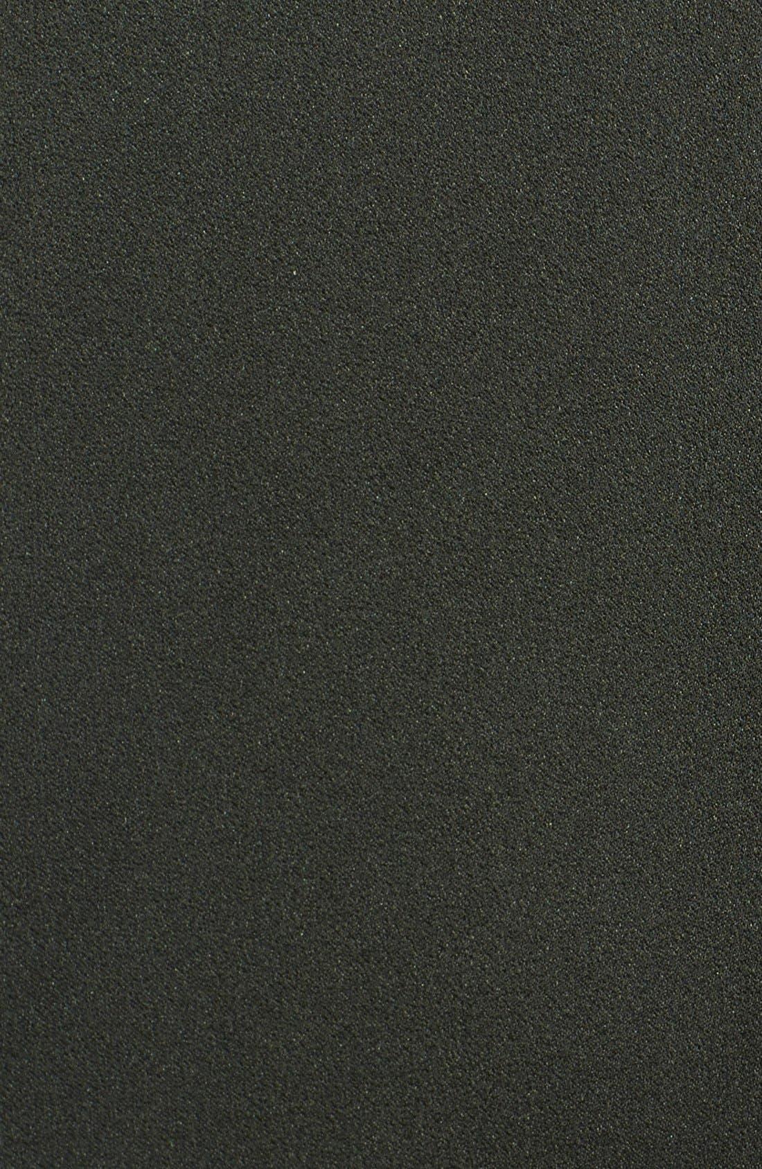 Alternate Image 4  - Stella McCartney Sable Crepe & Satin Dress with Neck Hardware