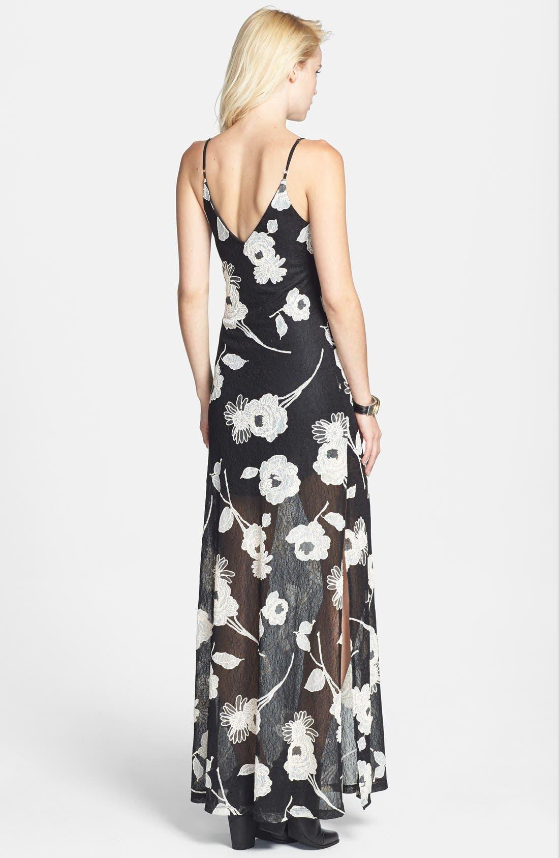 Alternate Image 2  - ASTR Floral Appliqué Lace Maxi Dress (Nordstrom Exclusive)