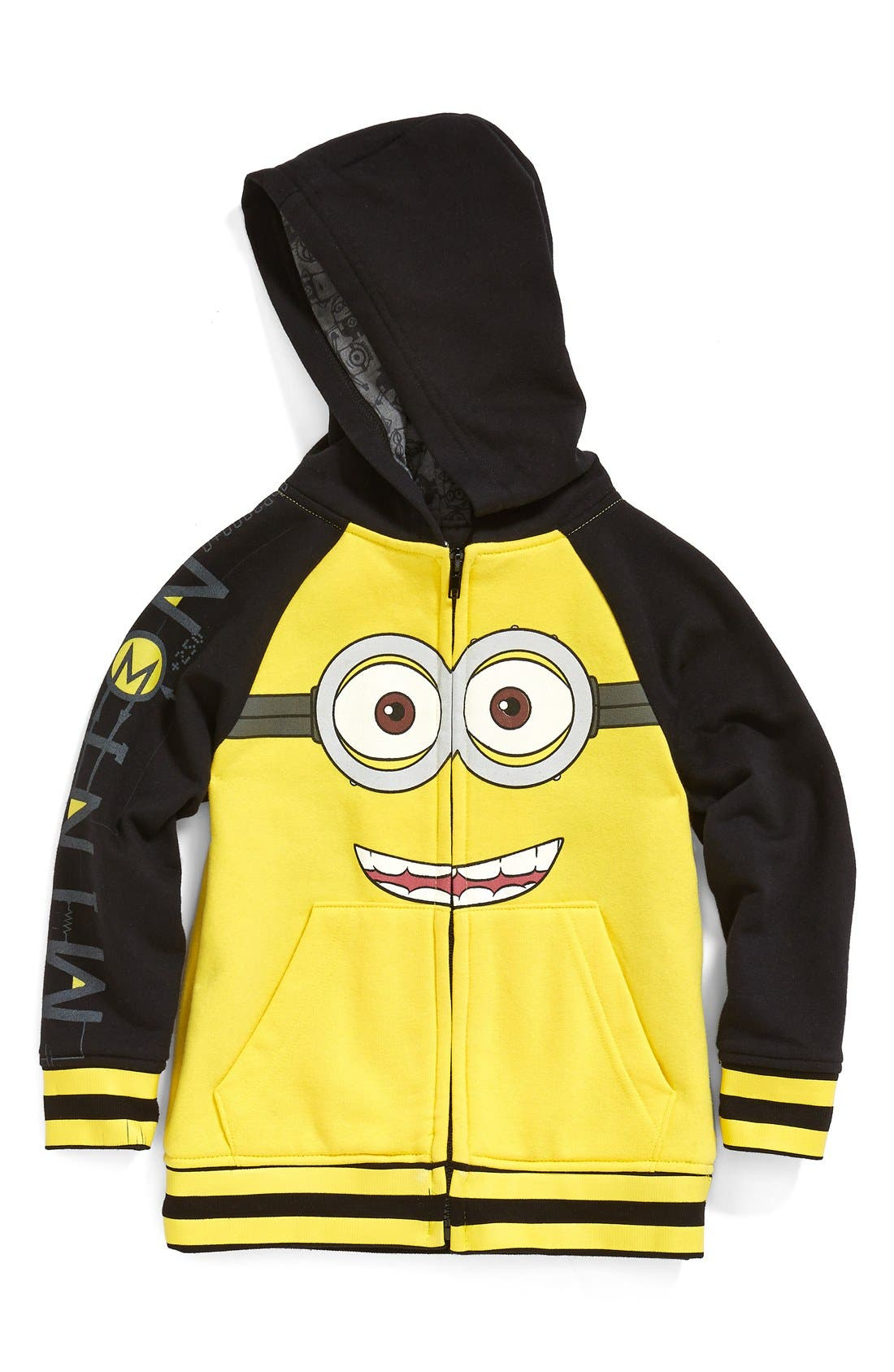 Alternate Image 1 Selected - Jem 'Goggle Minion - Despicable Me™' Zip Front Hoodie (Toddler Boys & Little Boys) (Nordstrom Exclusive)
