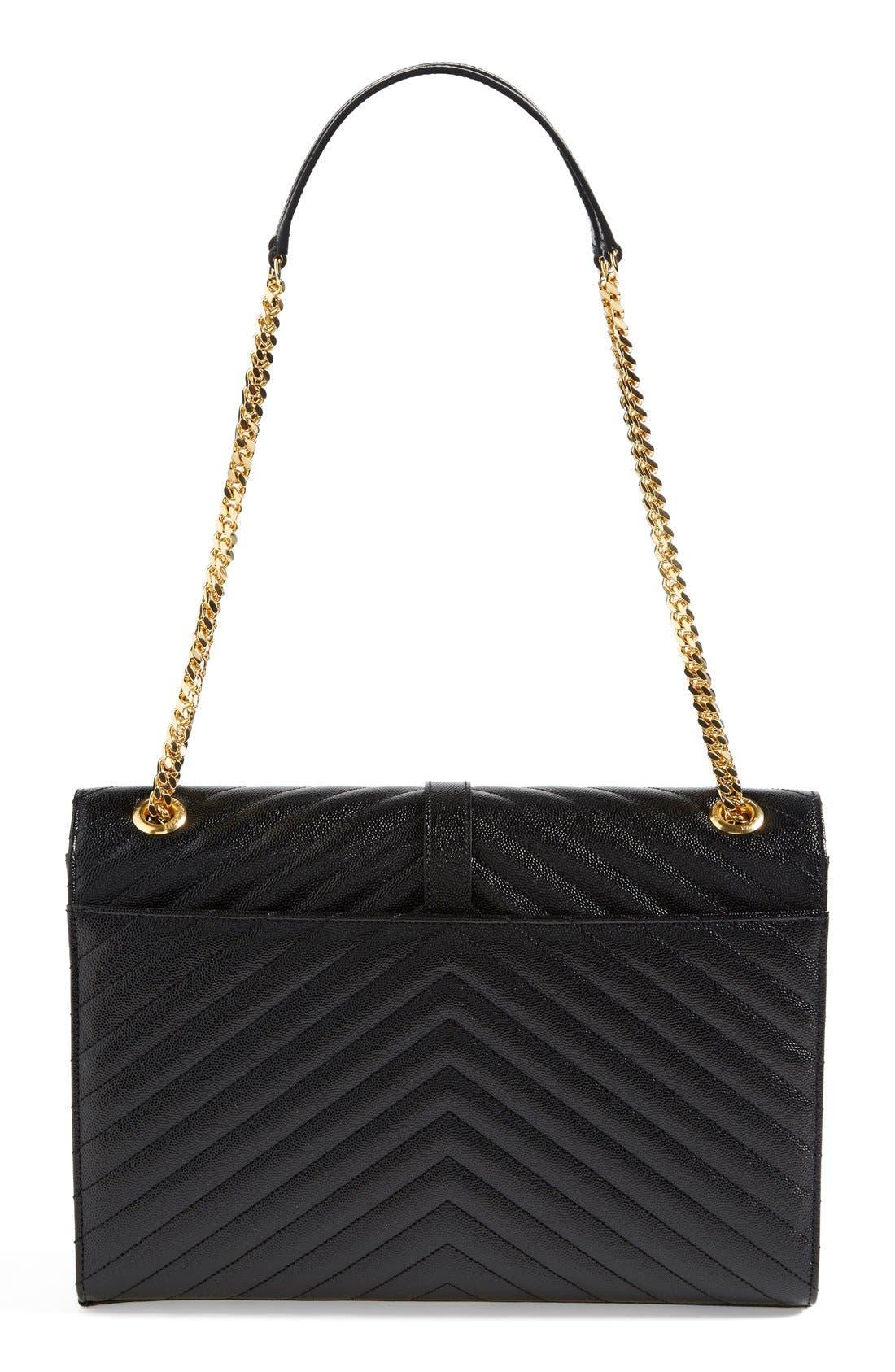 Alternate Image 3  - Saint Laurent 'Monogram' Leather Shoulder Bag