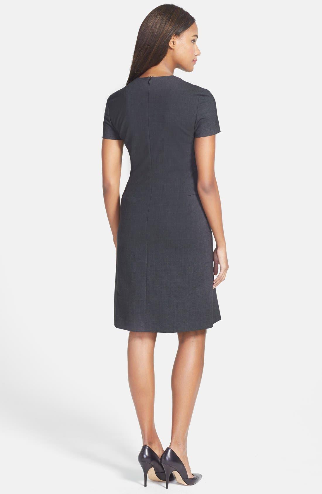 Alternate Image 2  - BOSS 'Dilina' Stretch Wool Suiting Sheath Dress