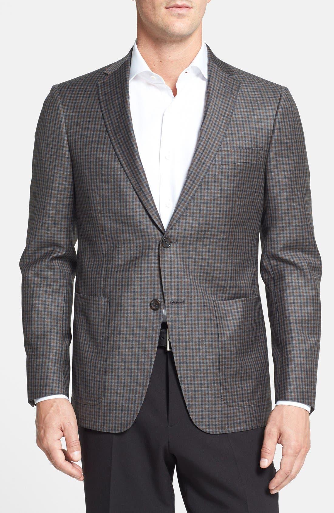 Alternate Image 1 Selected - Hart Schaffner Marx Classic Fit Plaid Sport Coat