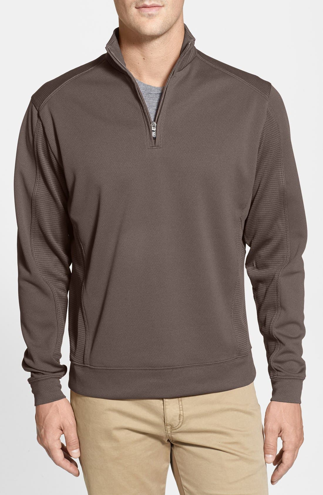 Alternate Image 1 Selected - Cutter & Buck DryTec Half Zip Pullover