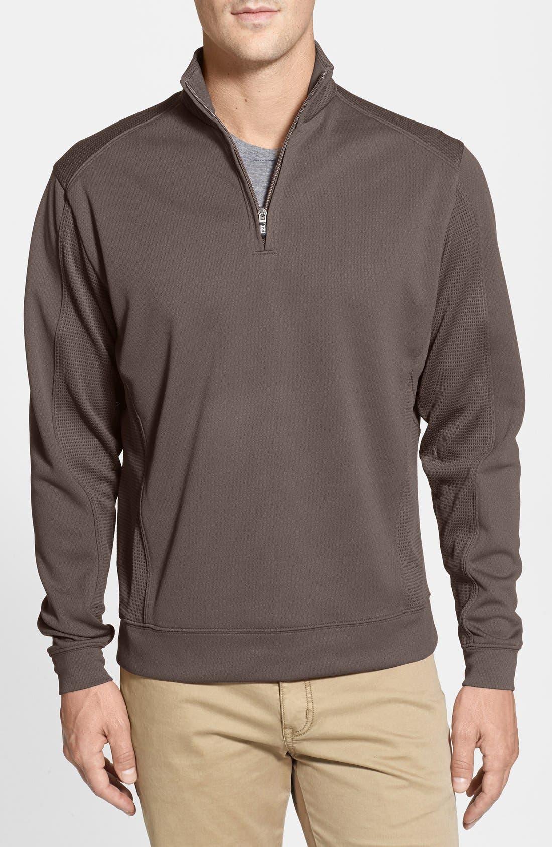 DryTec Half Zip Pullover,                         Main,                         color, Circuit Brown
