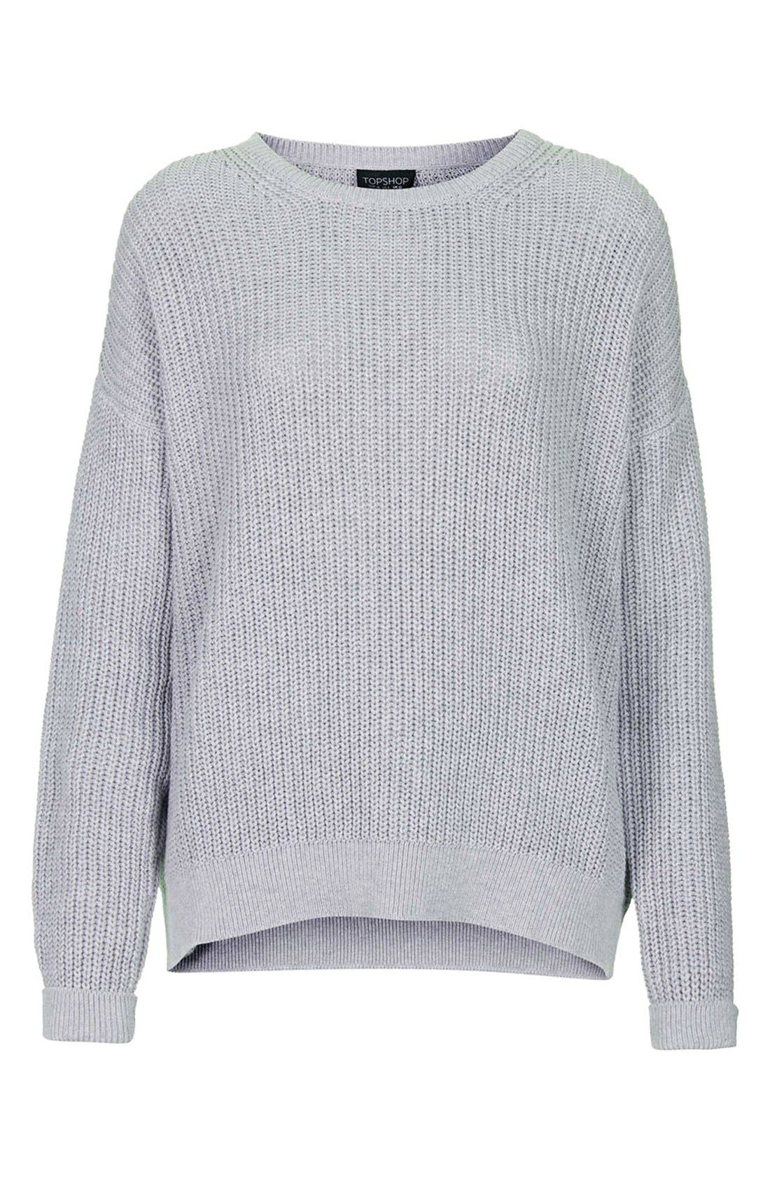 Alternate Image 3  - Topshop Ribbed Cotton Sweater