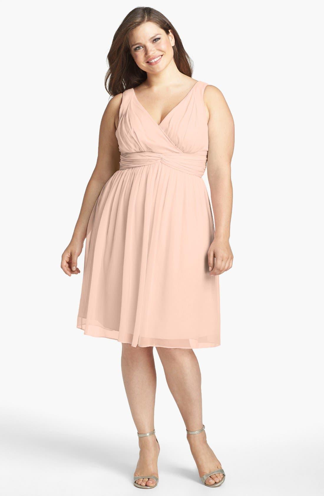 Alternate Image 3  - Donna Morgan 'Jessie' Twist Waist Chiffon Dress
