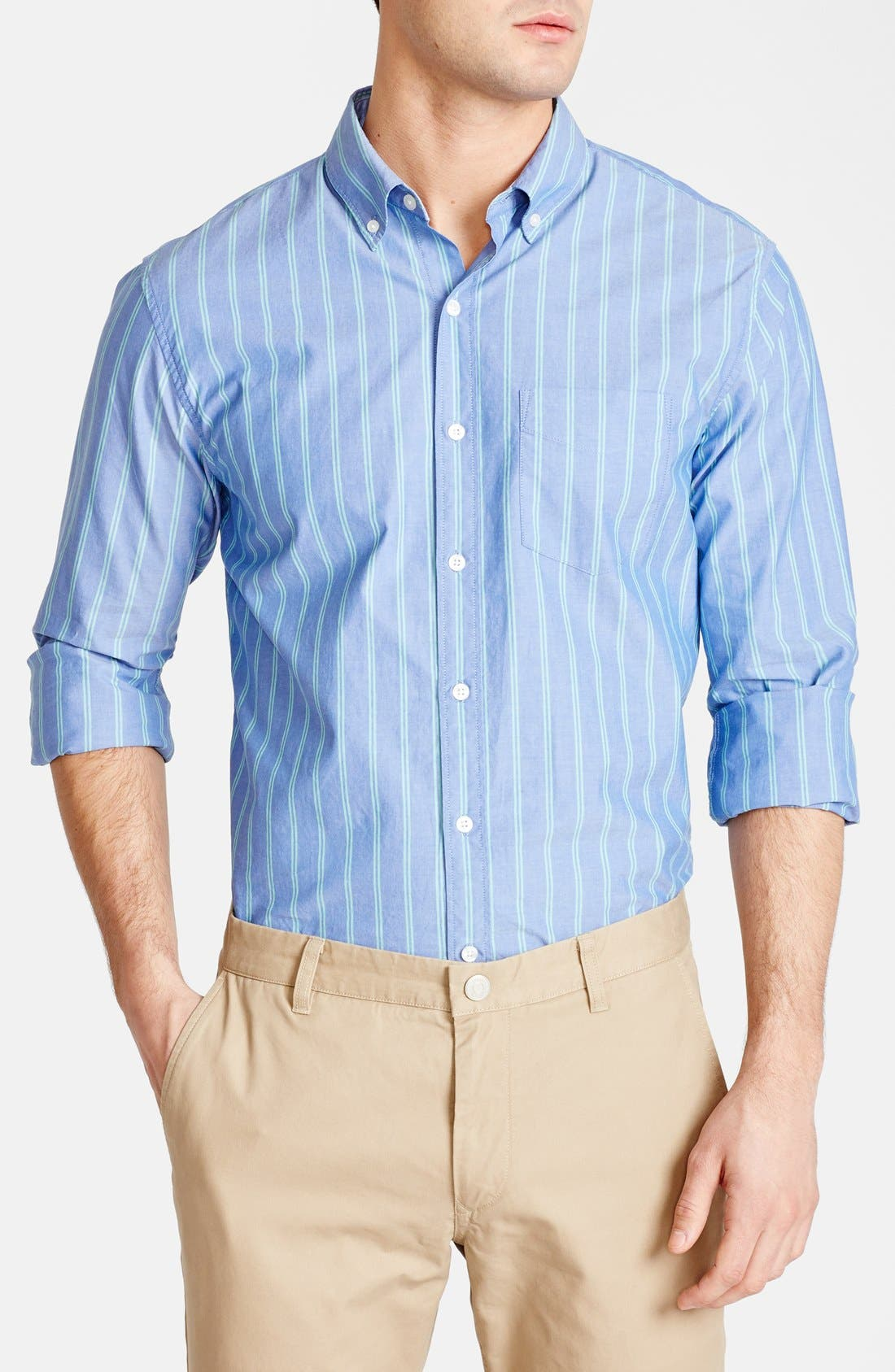 Alternate Image 1 Selected - Bonobos 'Glassop' Standard Fit Stripe Sport Shirt