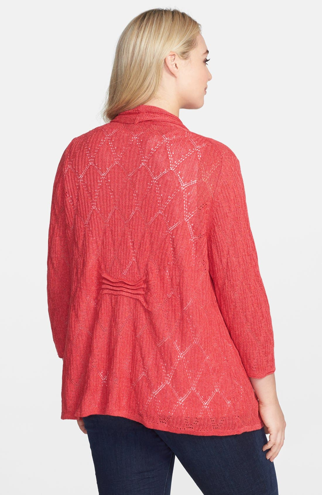 Alternate Image 2  - NIC+ZOE 'Cascading Diamonds' Cardigan (Plus Size)