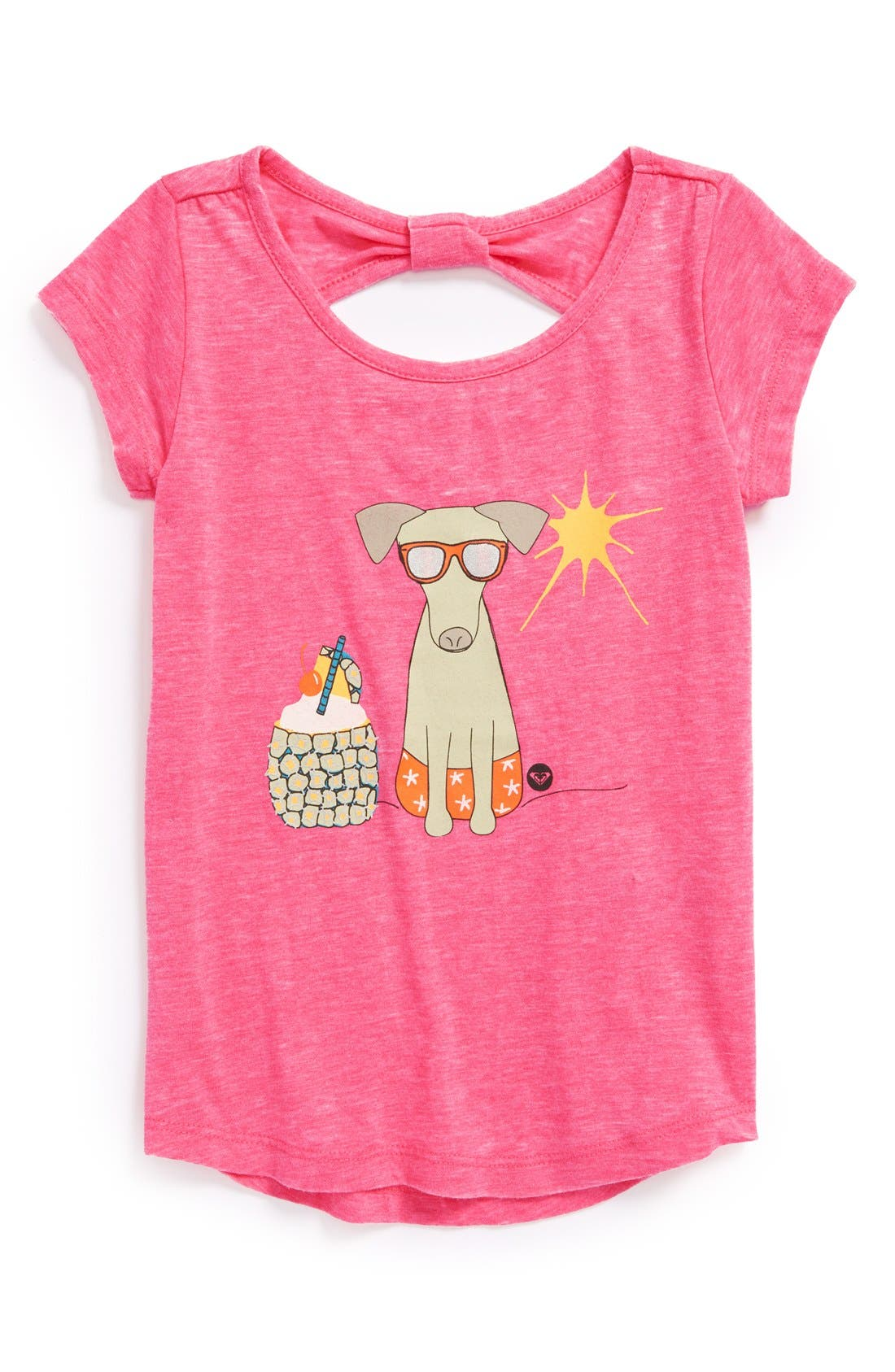 Main Image - Roxy 'Warm Day' Screenprint Tee (Toddler Girls)