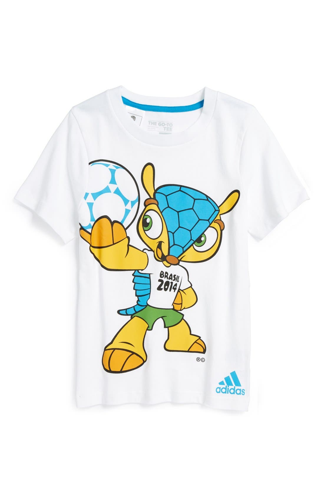 Alternate Image 1 Selected - adidas 'Fuleco - 2014 FIFA World Cup Brasil™' Graphic T-Shirt (Little Boys)