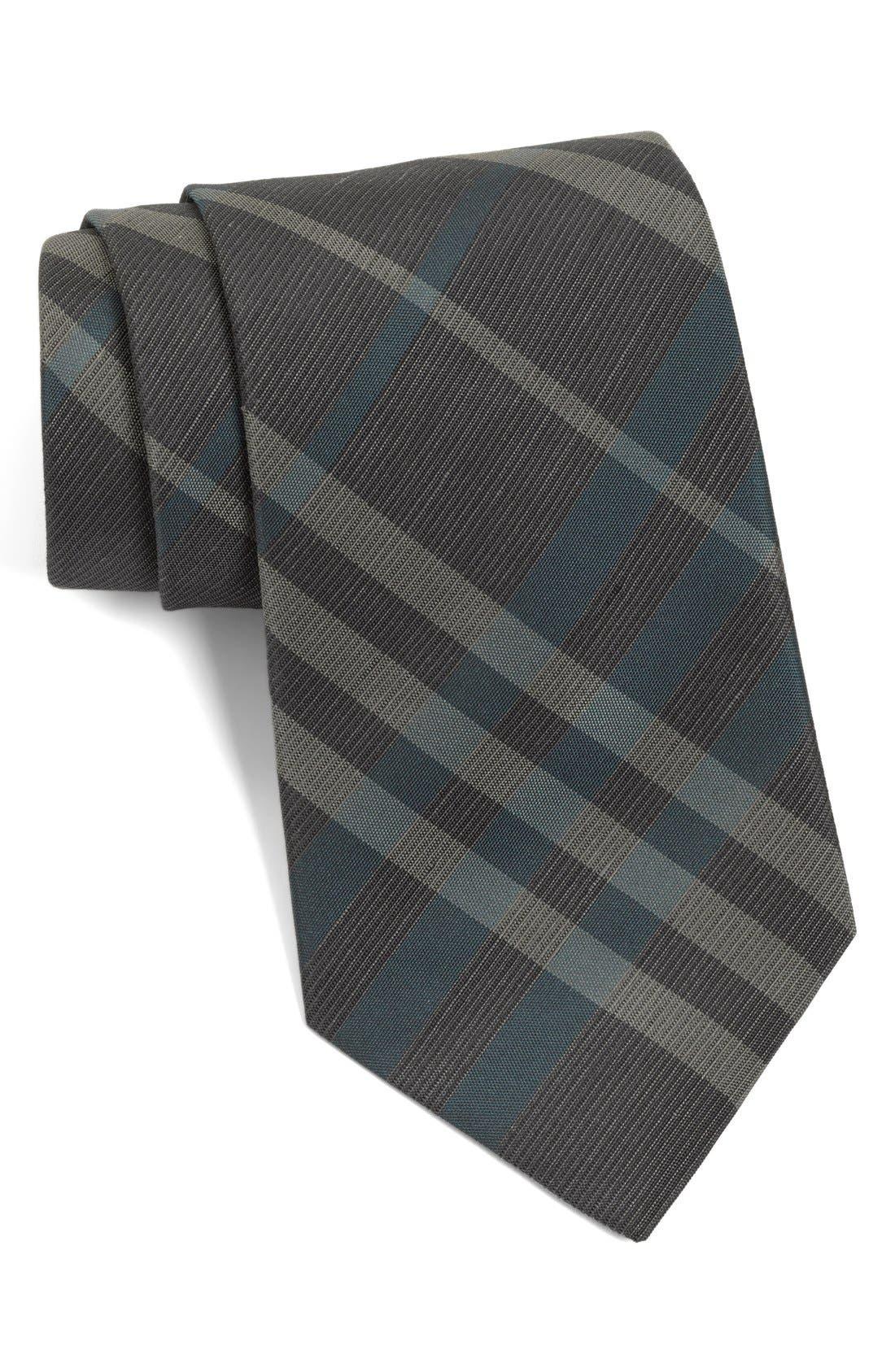 Main Image - Burberry London 'Regent' Woven Silk & Linen Tie