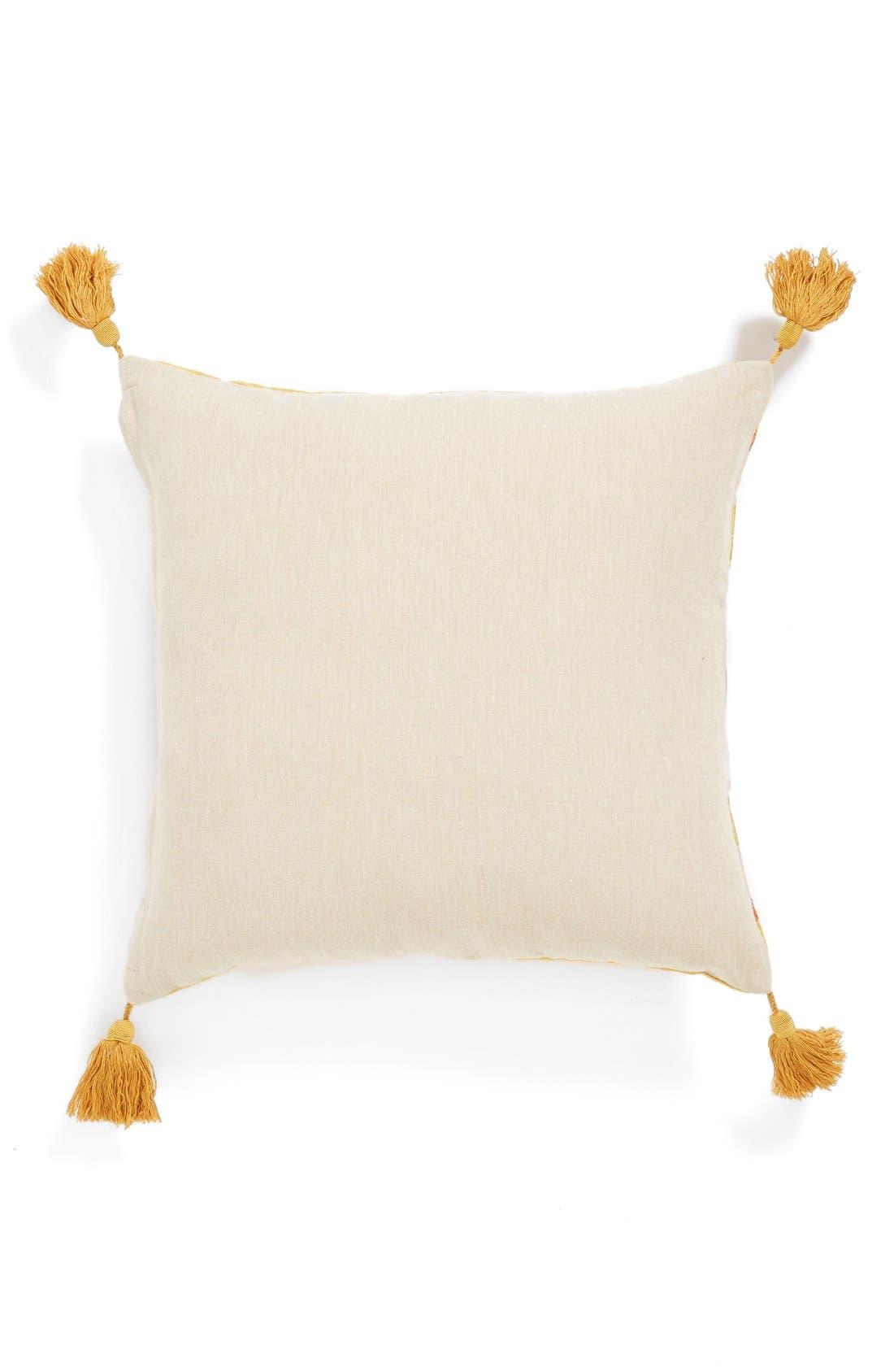Alternate Image 2  - Loloi Embroidered Tassel Pillow