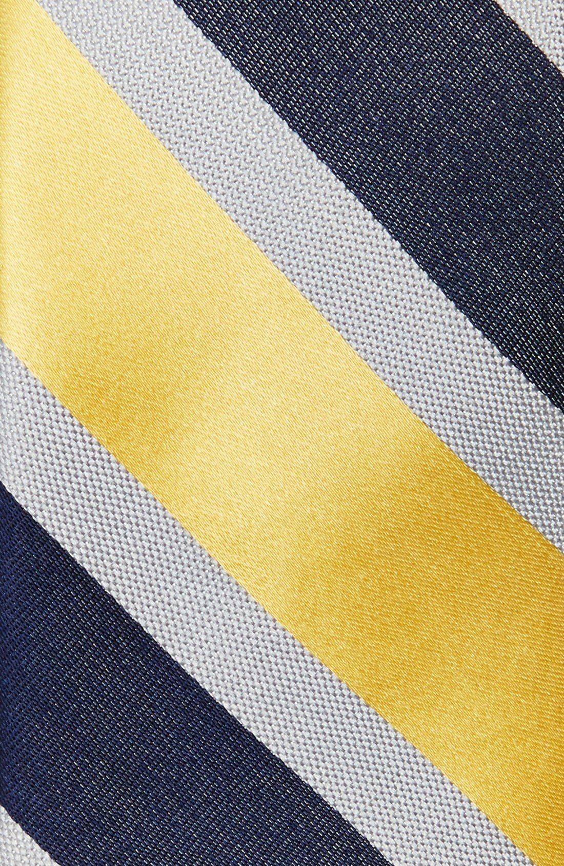 Woven Silk Tie,                             Alternate thumbnail 2, color,                             Yellow