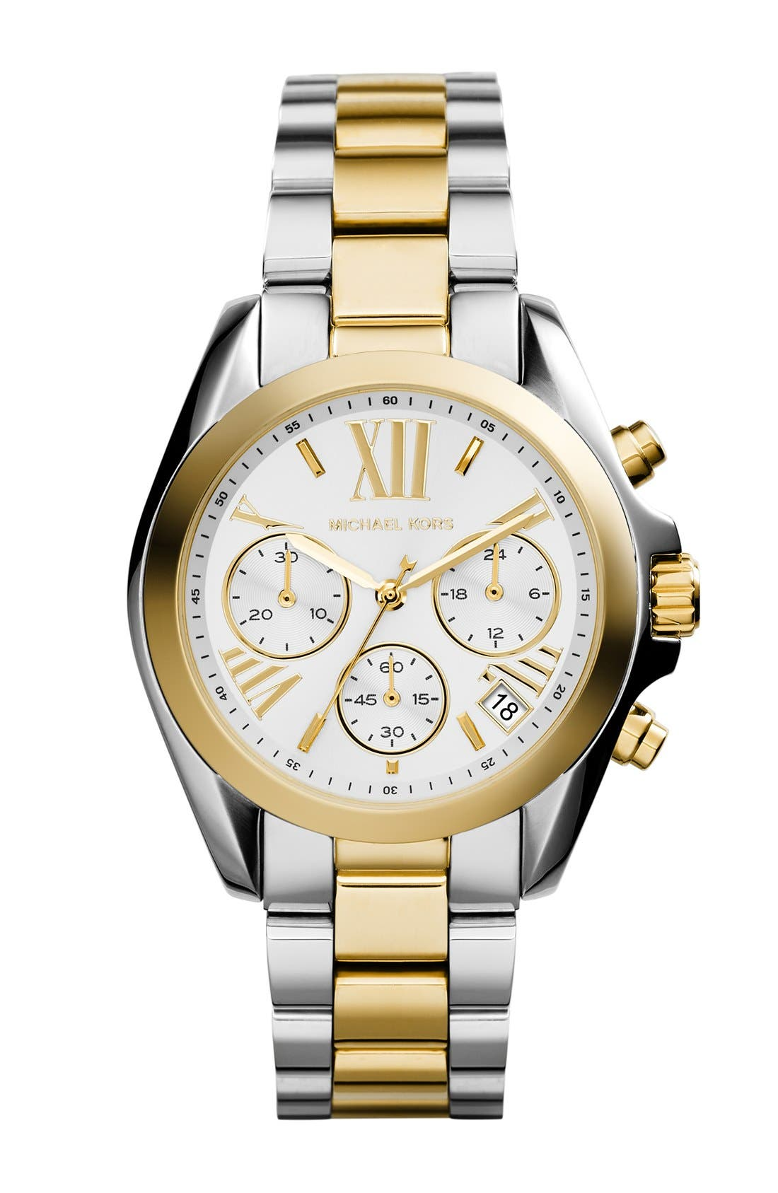 Alternate Image 1 Selected - Michael Kors 'Bradshaw - Mini' Chronograph Bracelet Watch, 36mm