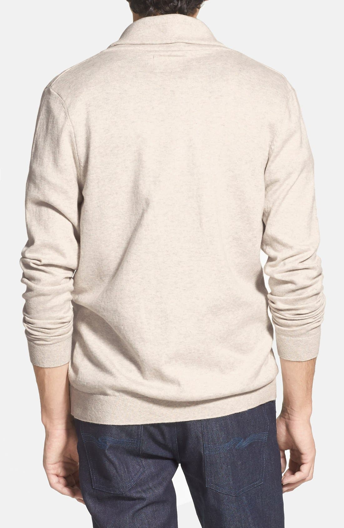 Alternate Image 2  - Topman Jersey Shawl Collar Cardigan