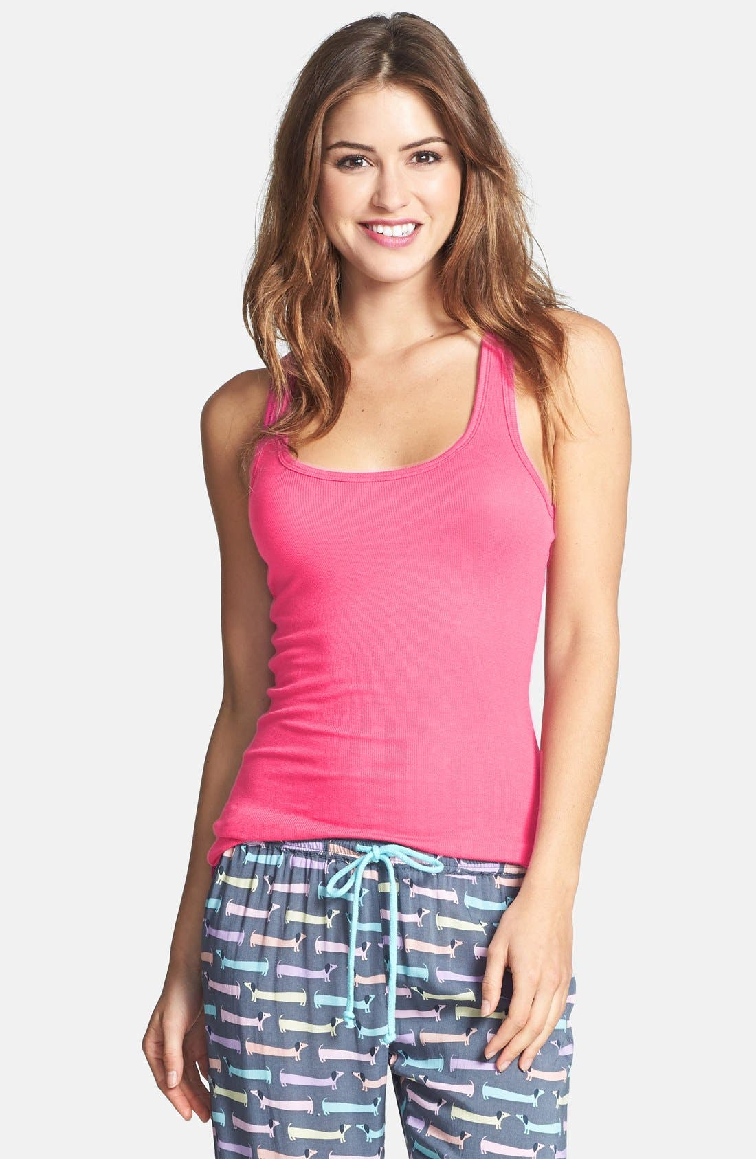 Alternate Image 1 Selected - PJ Salvage 'Challe Chic' Ribbed Racerback Tank (Nordstrom Exclusive)